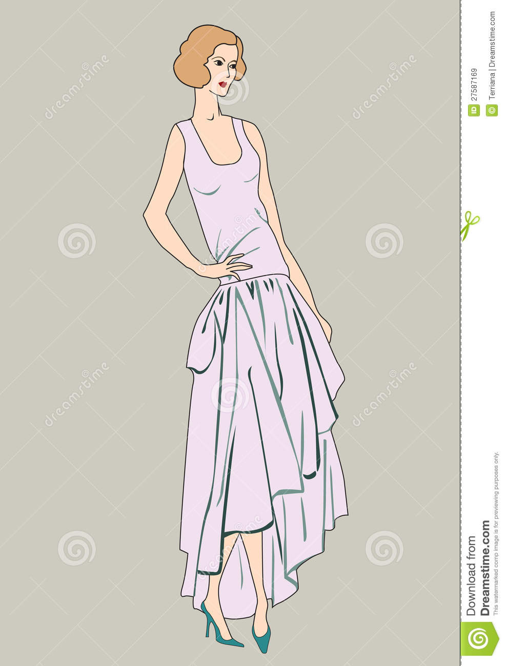 Flapper Girls 20s Style Retro Fashion Party Royalty Free Stock Images Image 27587169