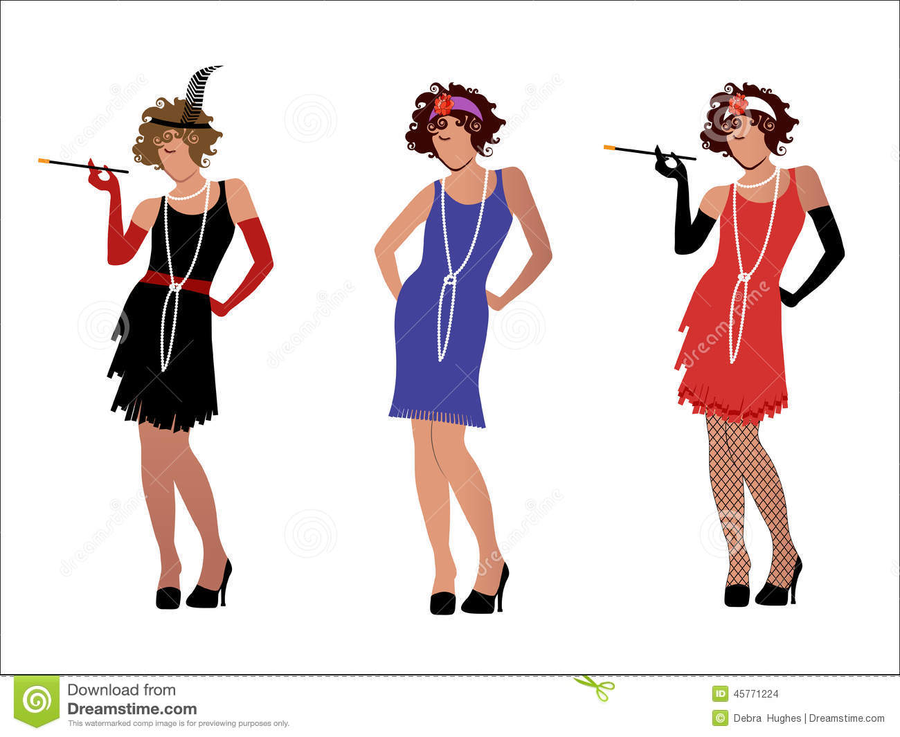 Flappers Stock Illustrations – 46 Flappers Stock Illustrations ...