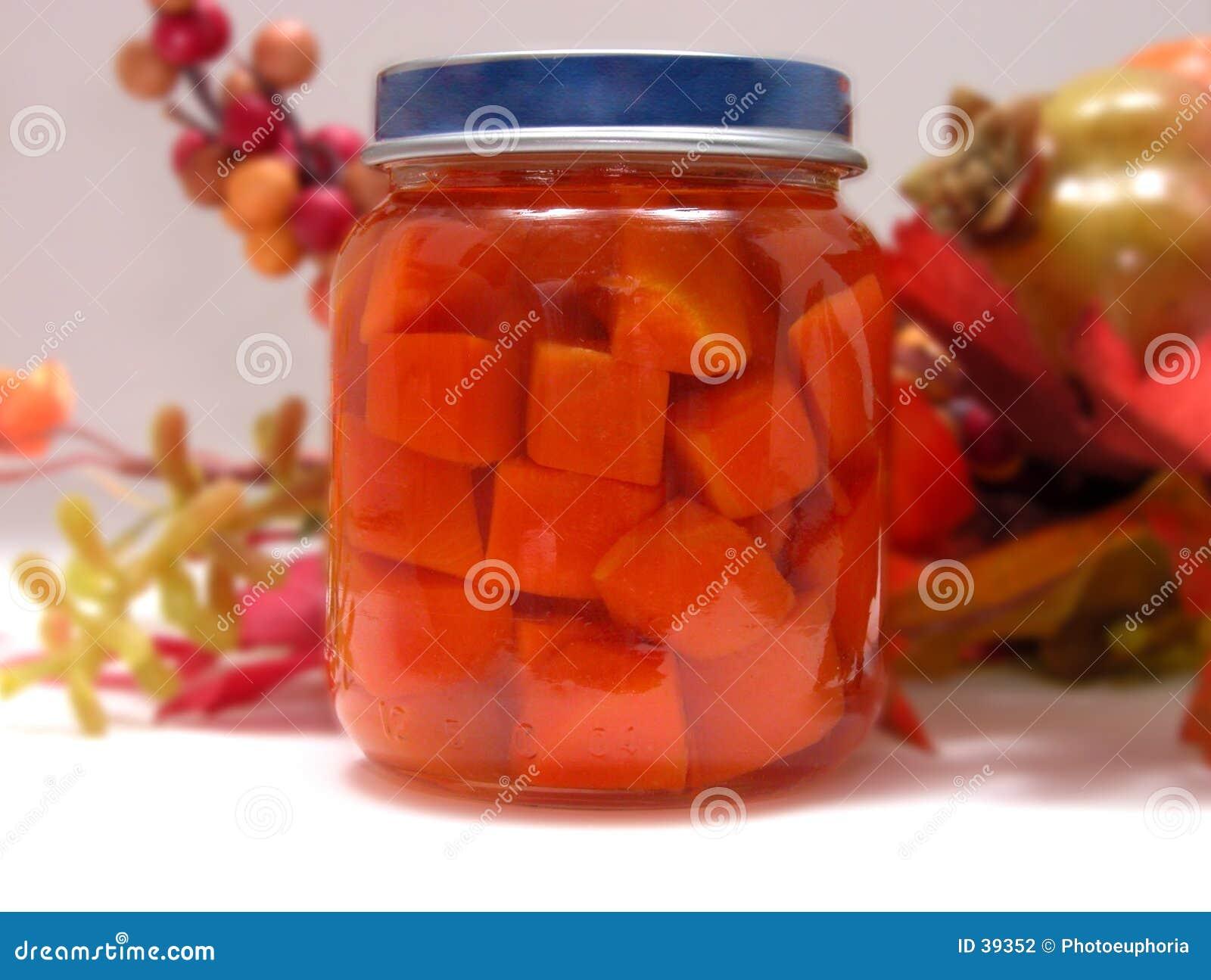Flasche Schätzchen-Karotten