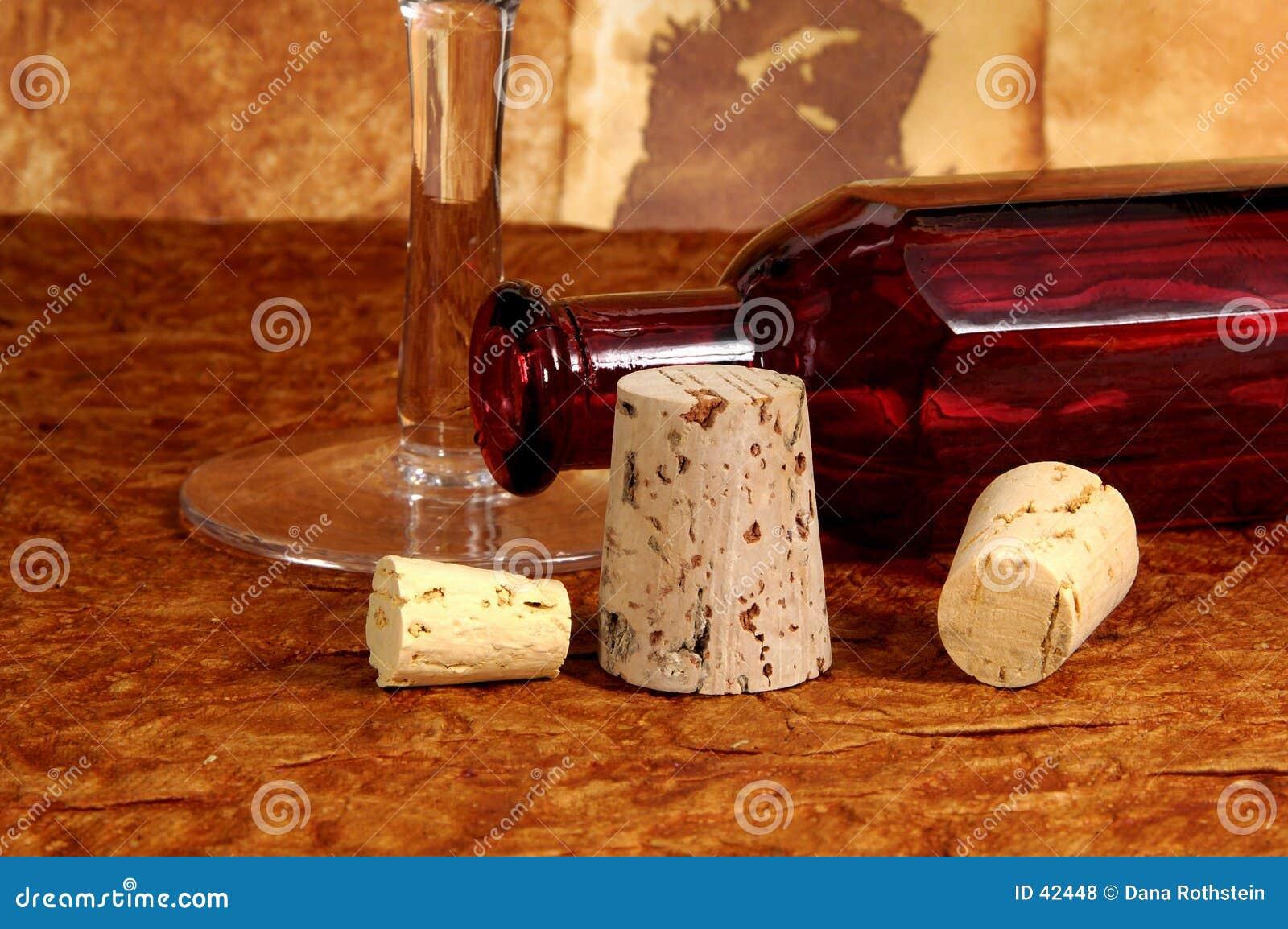 Flasche und Korken
