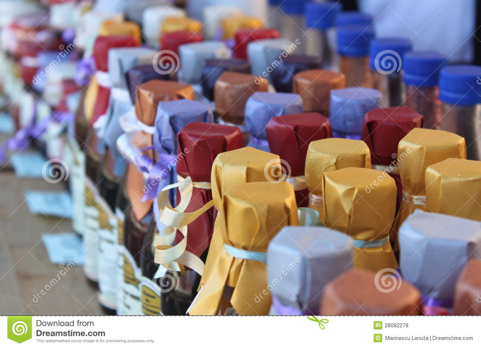 Flaschen gepackt