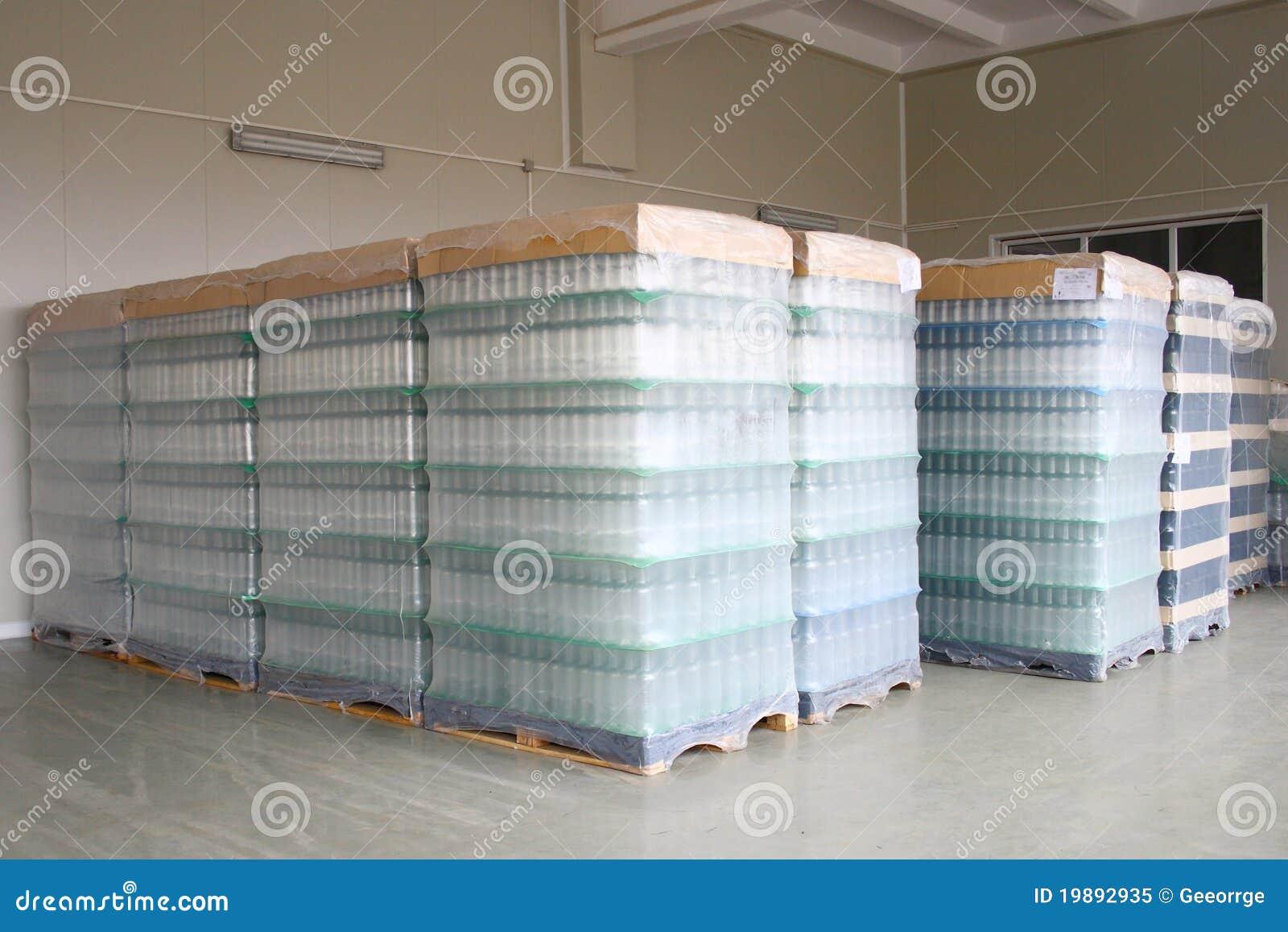 Flaschen gespeichert im Depot