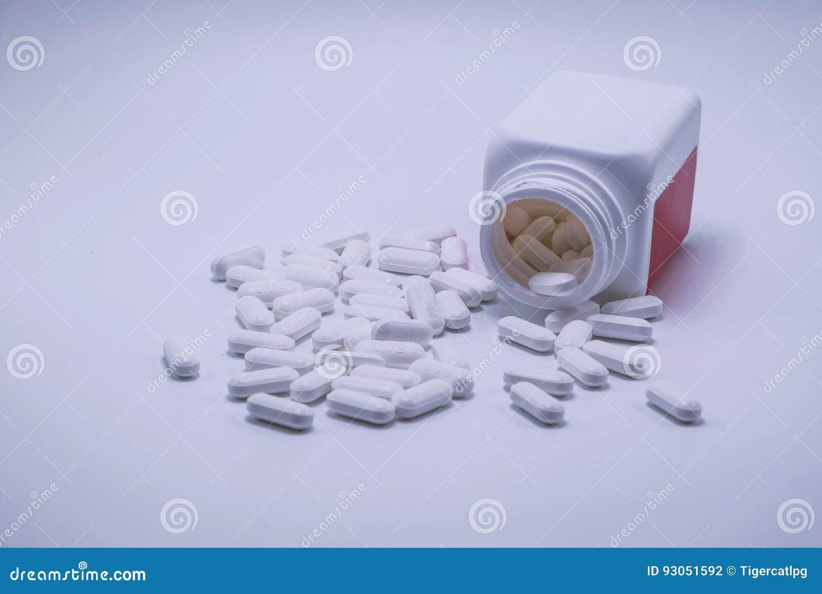 Flaschen Paracetamol