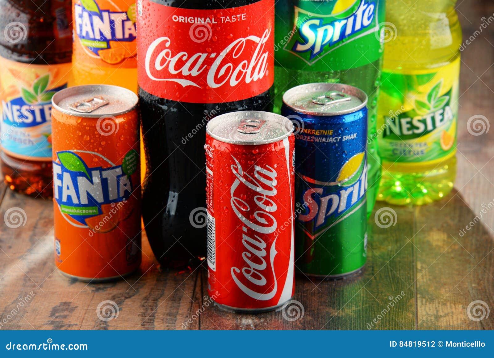 Flaschen Sortierte Coca Cola Company-alkoholfreie Getränke ...
