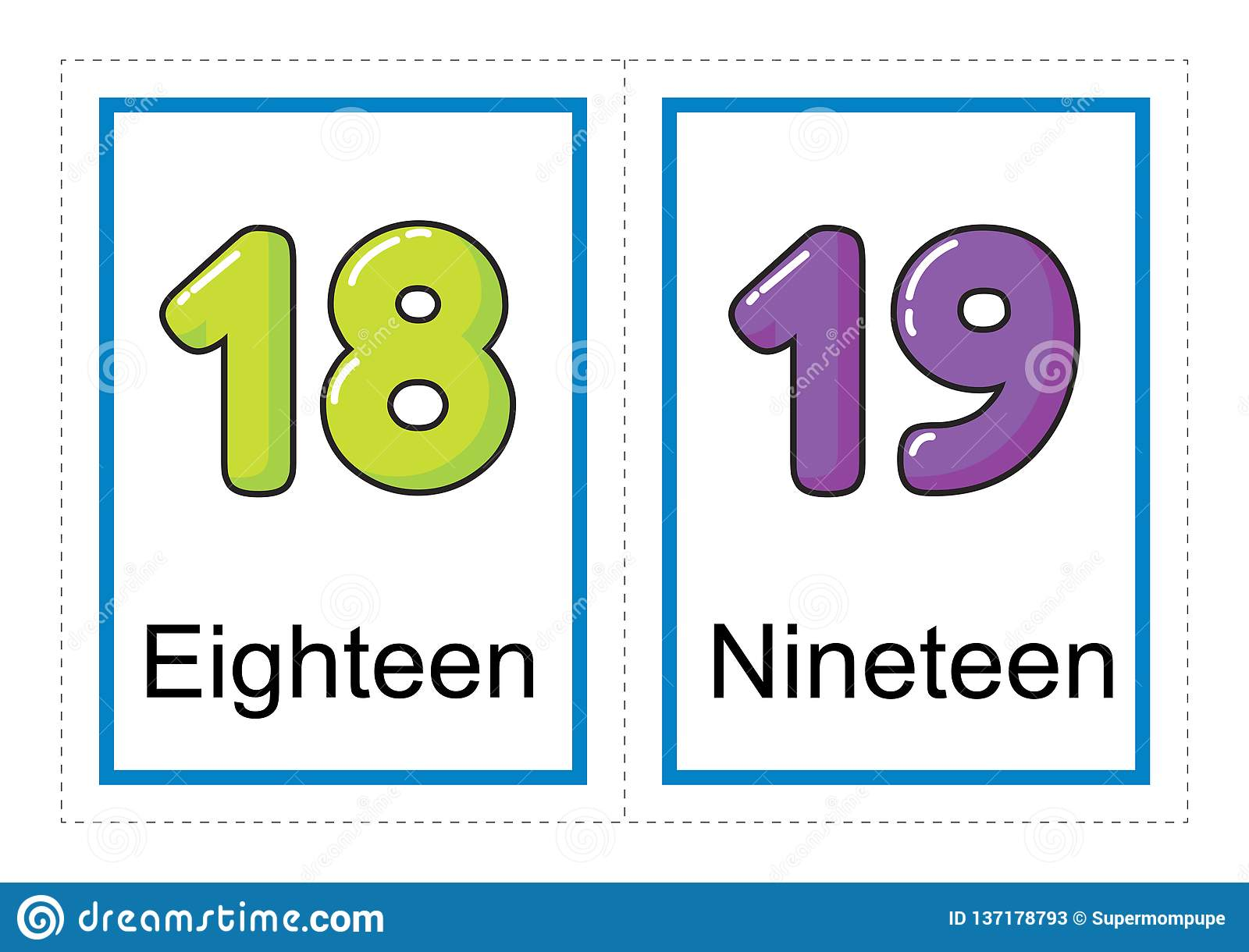 photo about Printable Numbers Flashcards identified as Flash Card Variety For Figures And Their Names For