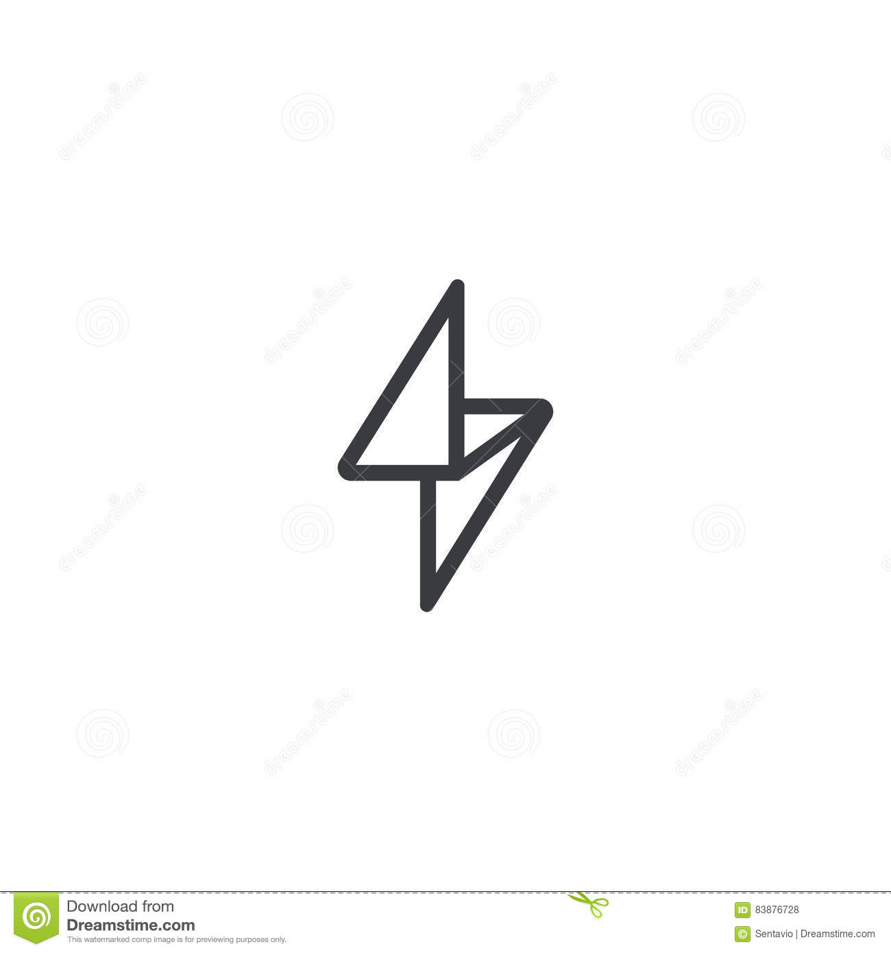 Flash Logo Design Vector Template Linear Style Thunderbolt Geometric Symbol