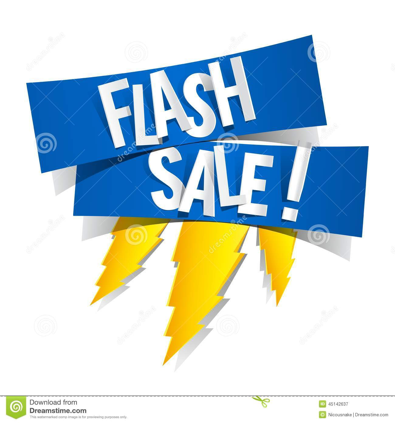 Flash sale stock vector image 45142637 for Designer flash sale sites