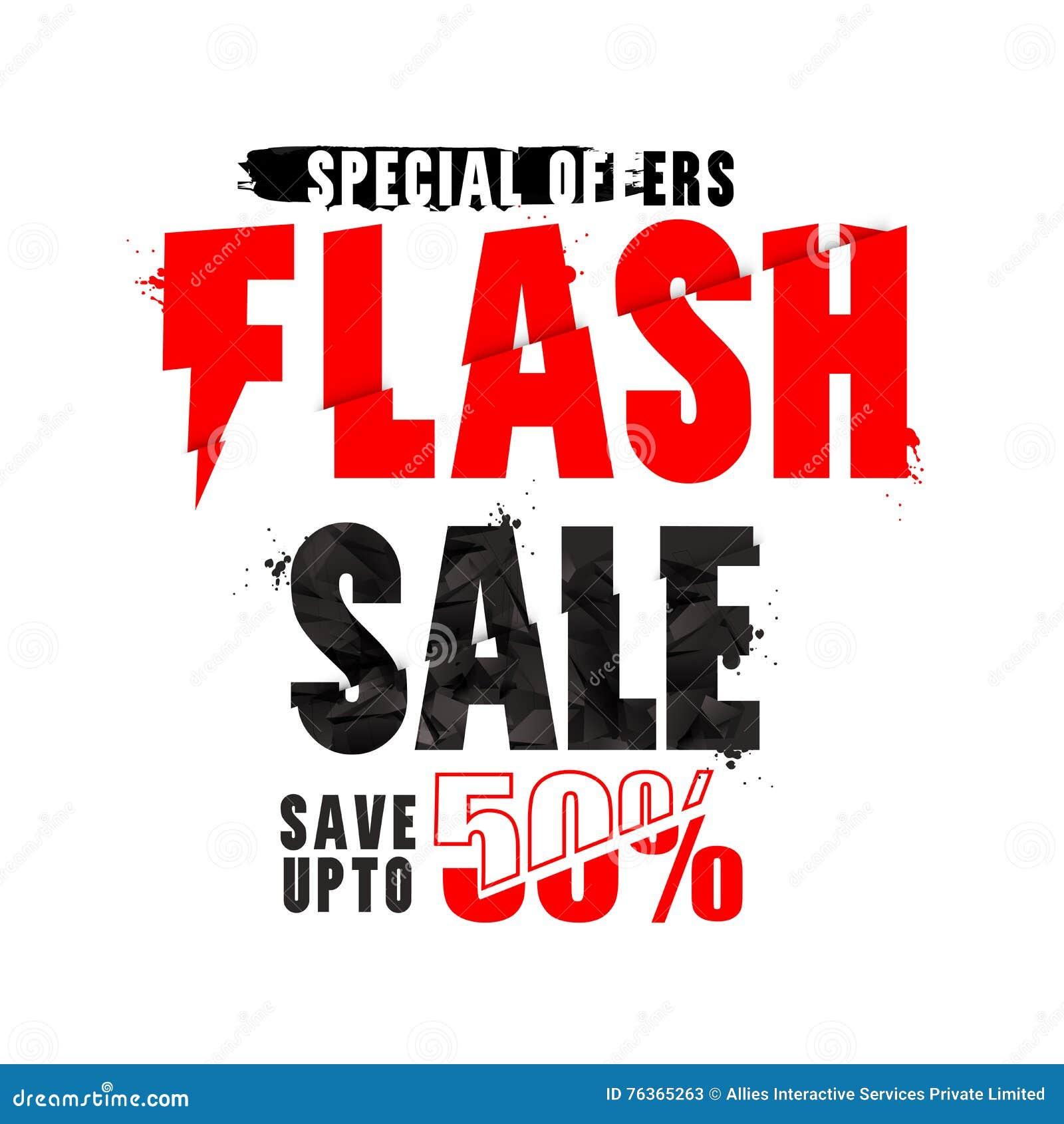 Flash Sale Poster Banner Or Flyer Design Illustration – Sale Flyer Design
