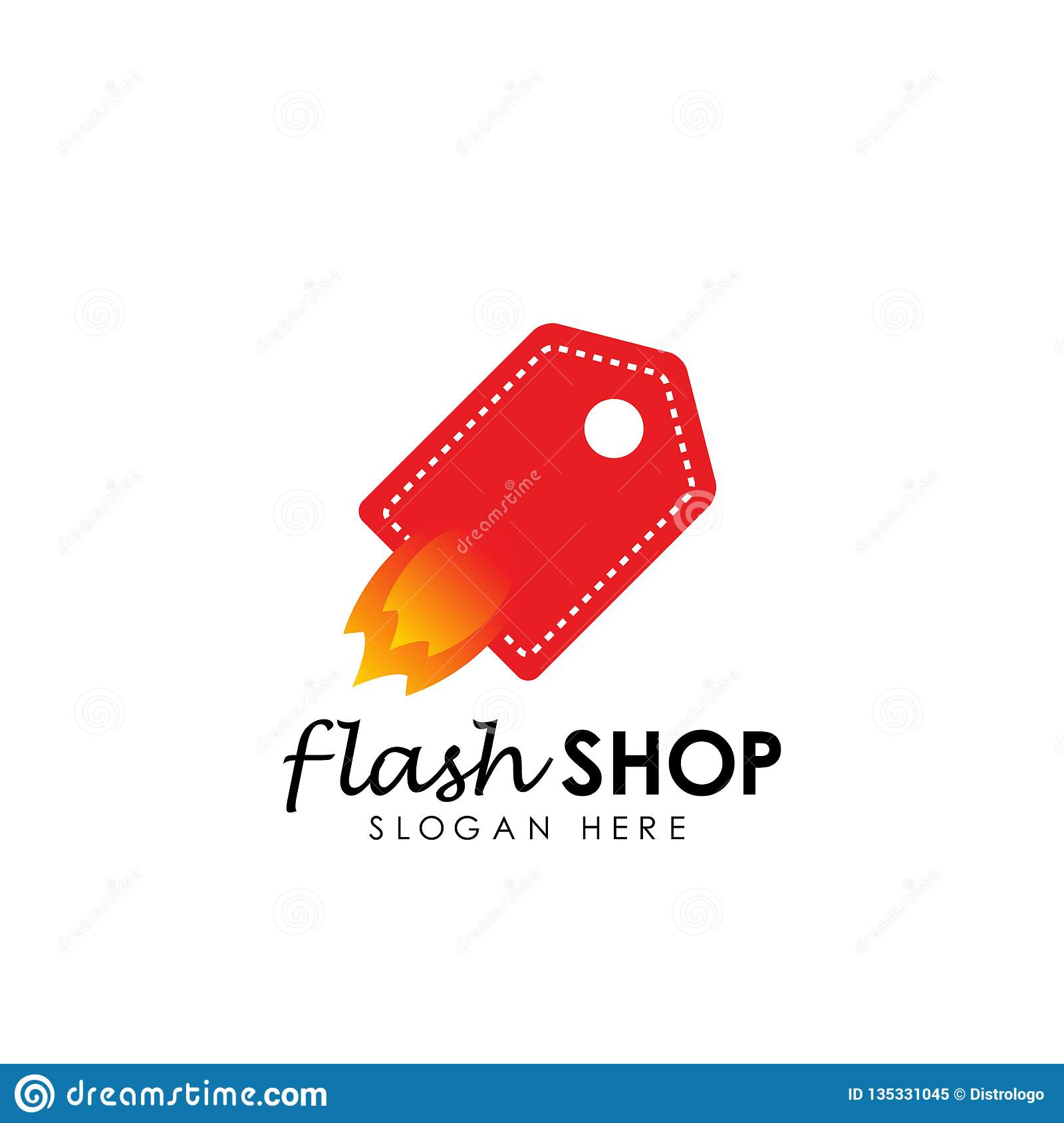 flash shop logo design template. flash sale vector illustration
