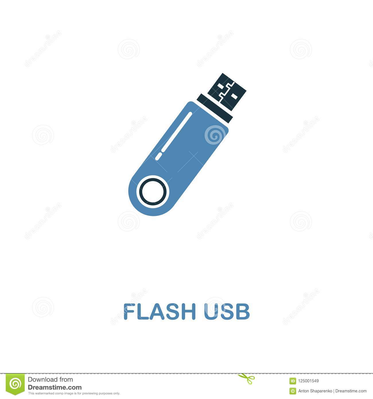 Flash Usb Icon In Two Colors Simple Element Symbol Flash Usb Icon Design From Computer Collection Perfect For Web Design Apps Stock Illustration Illustration Of Card Drive 125001549