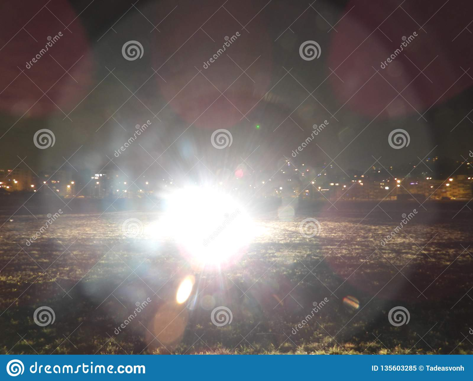 Flash Which Was Not Created By Nature Stock Image - Image of aerial