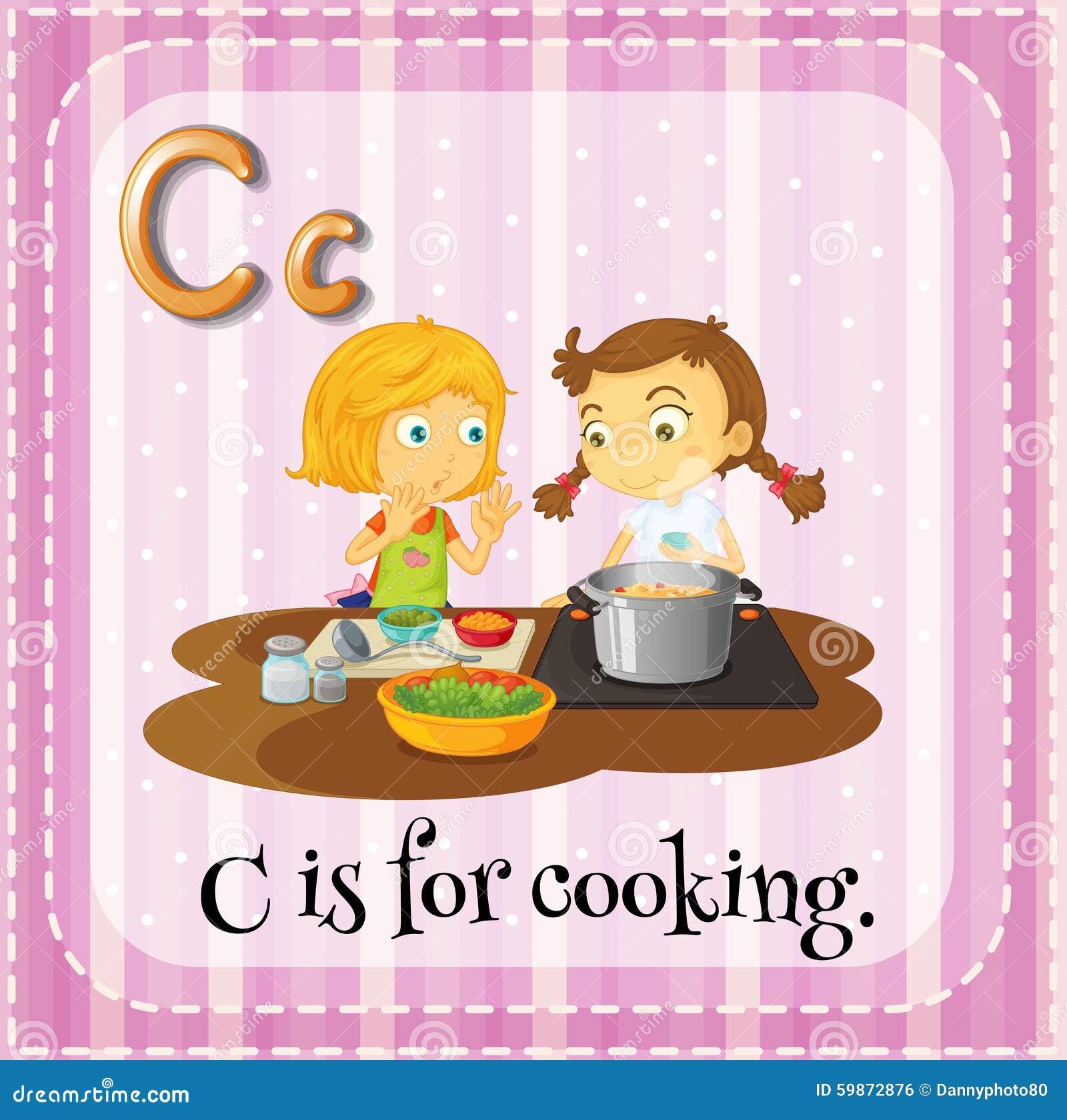 Flashcard av C är för att laga mat