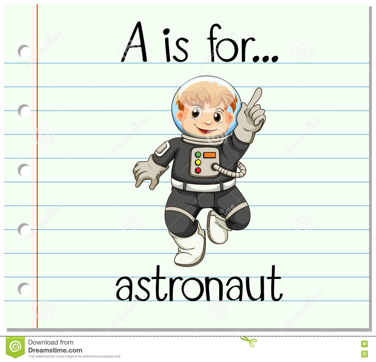 Stock Illustration Flashcard Letter Astronaut Illustration Image71496821 on thumbs up clip art