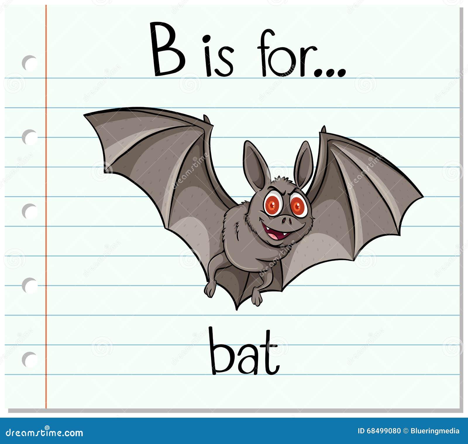 flashcard letter b is for bat stock vector image 68499080 reading clip art for kids reading clip art for teachers