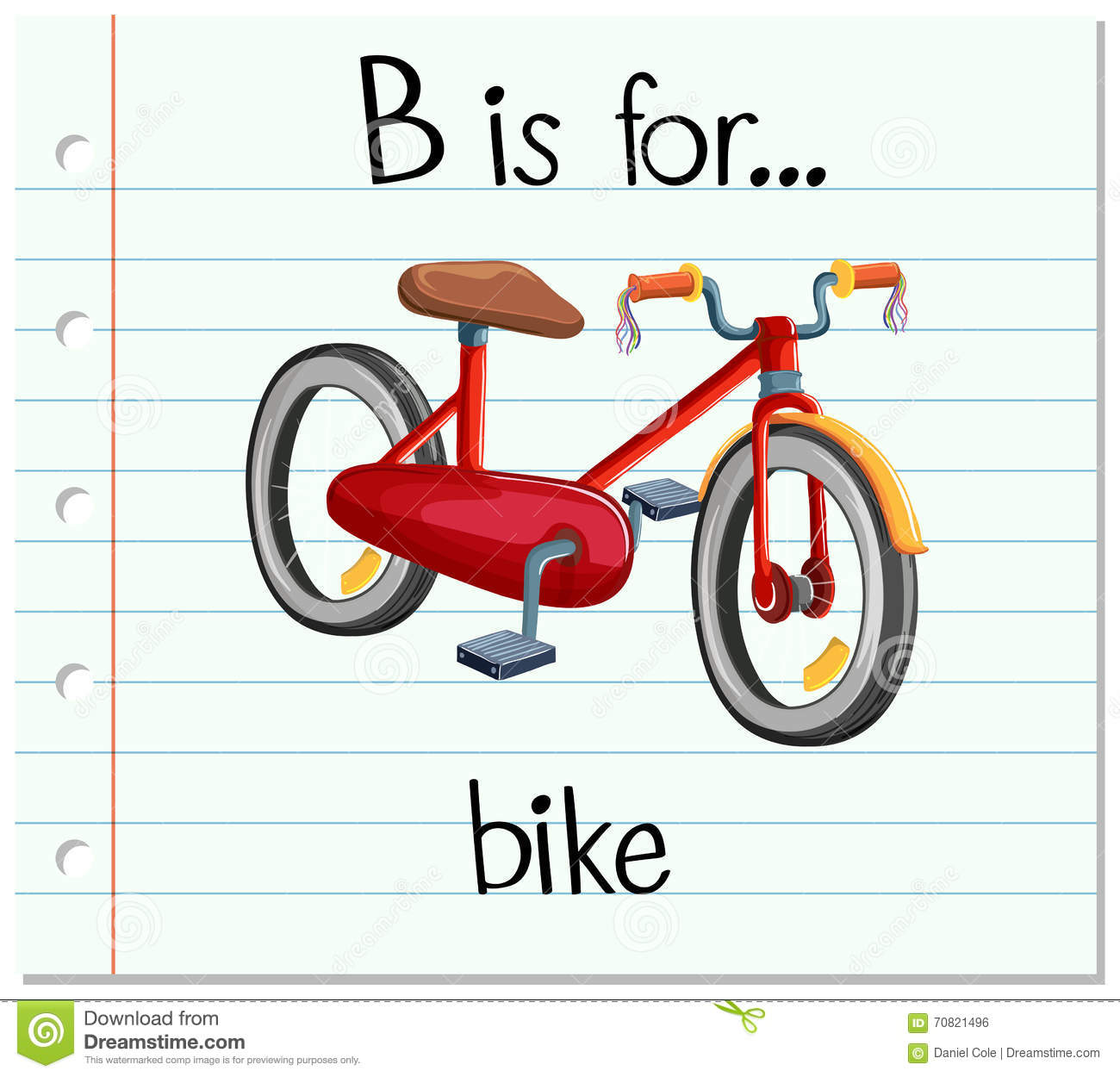 flashcard letter b is for bike stock vector image 70821496 bicycle clip art free bicycle clip art images