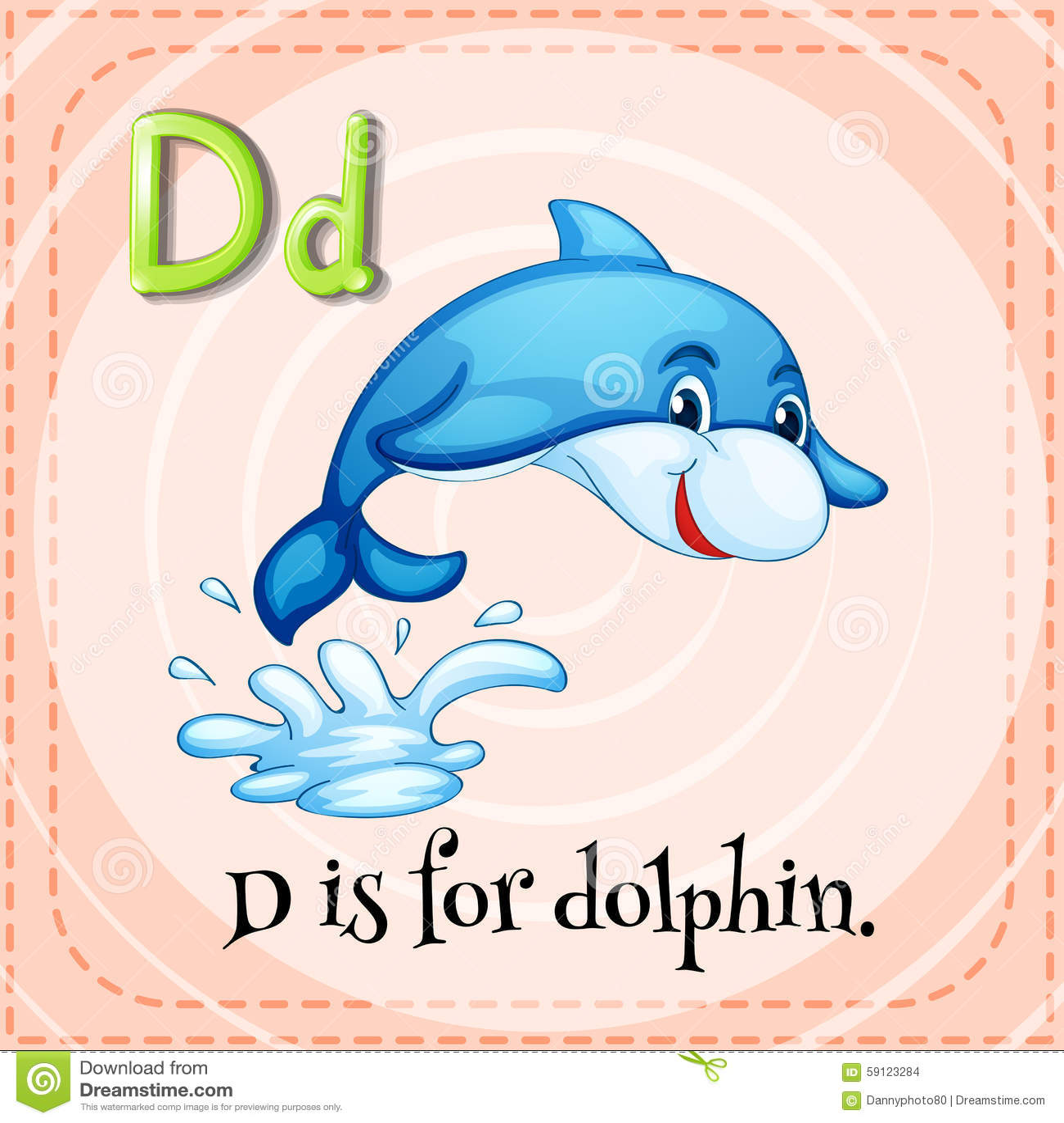 Stock Illustration Flashcard Letter D Dolphin Illustration Image59123284 on Alphabet Flash Cards