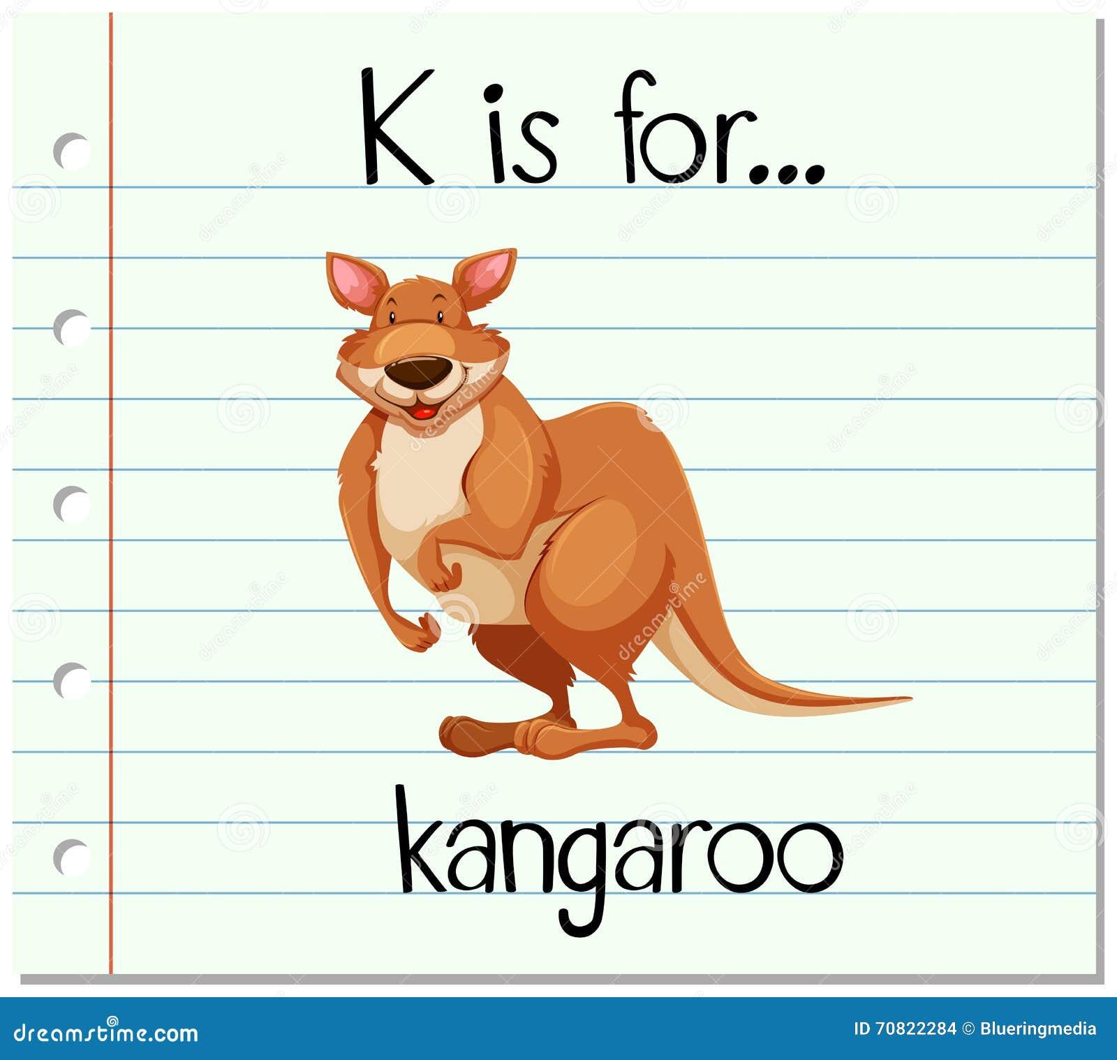 flashcard letter k is for kangaroo