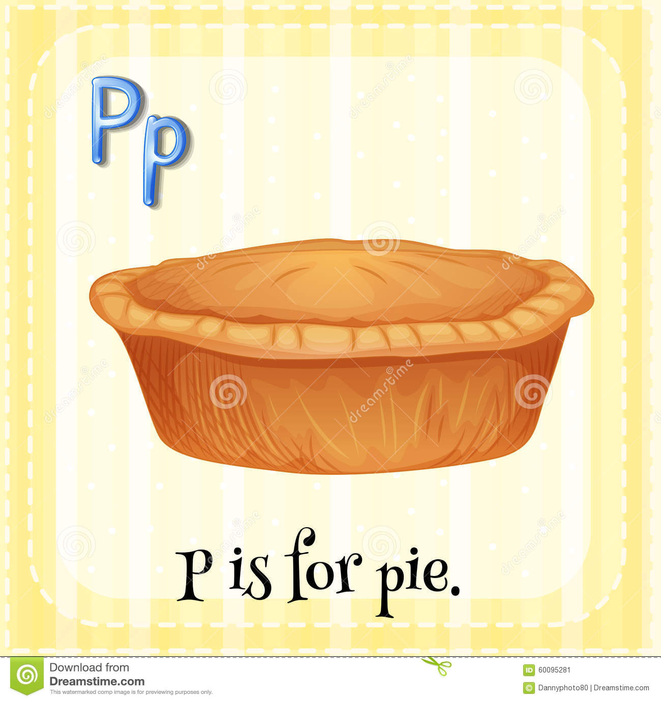 Stock Illustration Flashcard Letter P Pie Illustration Image60095281 on Latest Writing A Business Letter