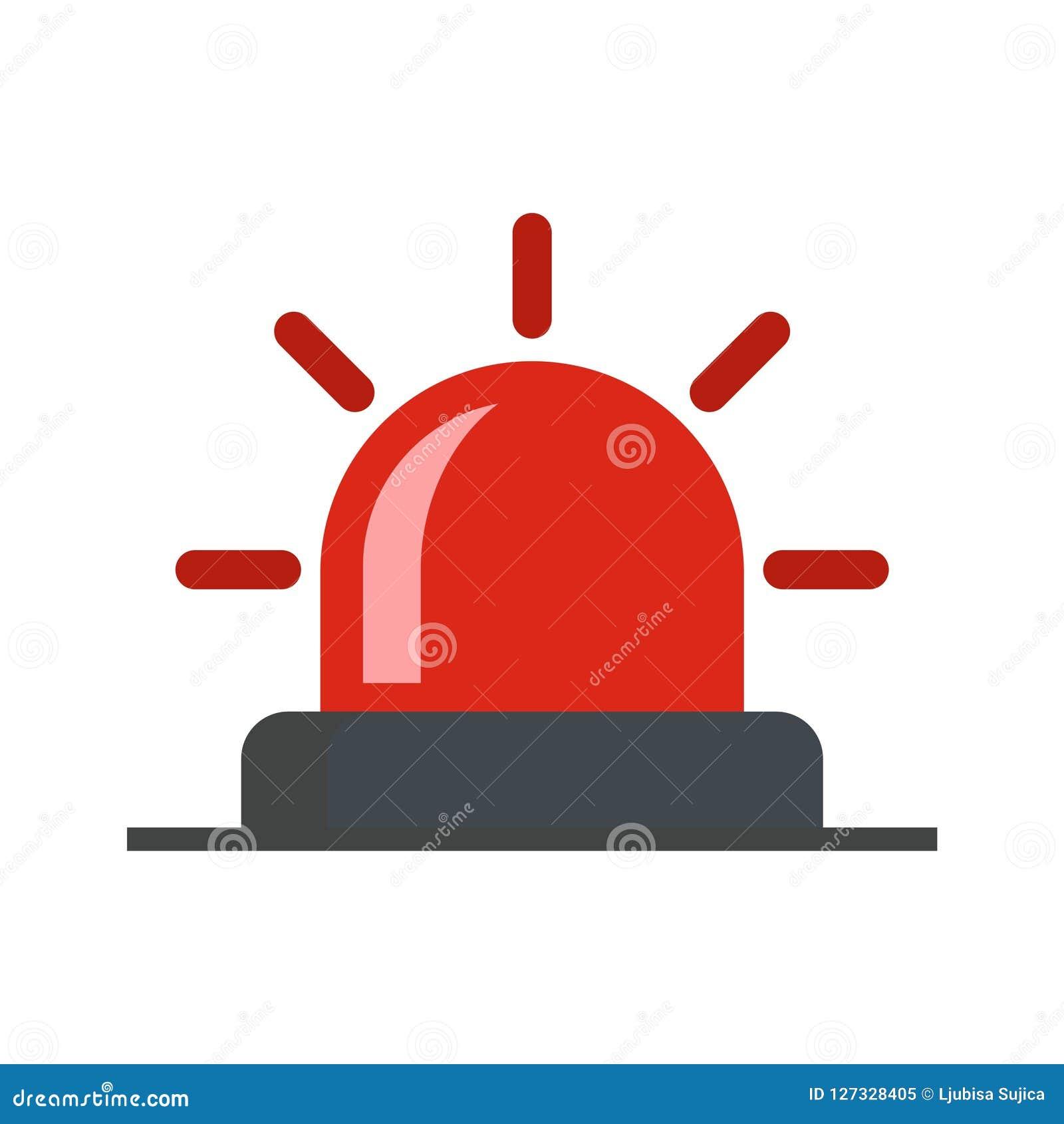 Flasher Icon, Siren Icon, Alarm Siren Stock Vector