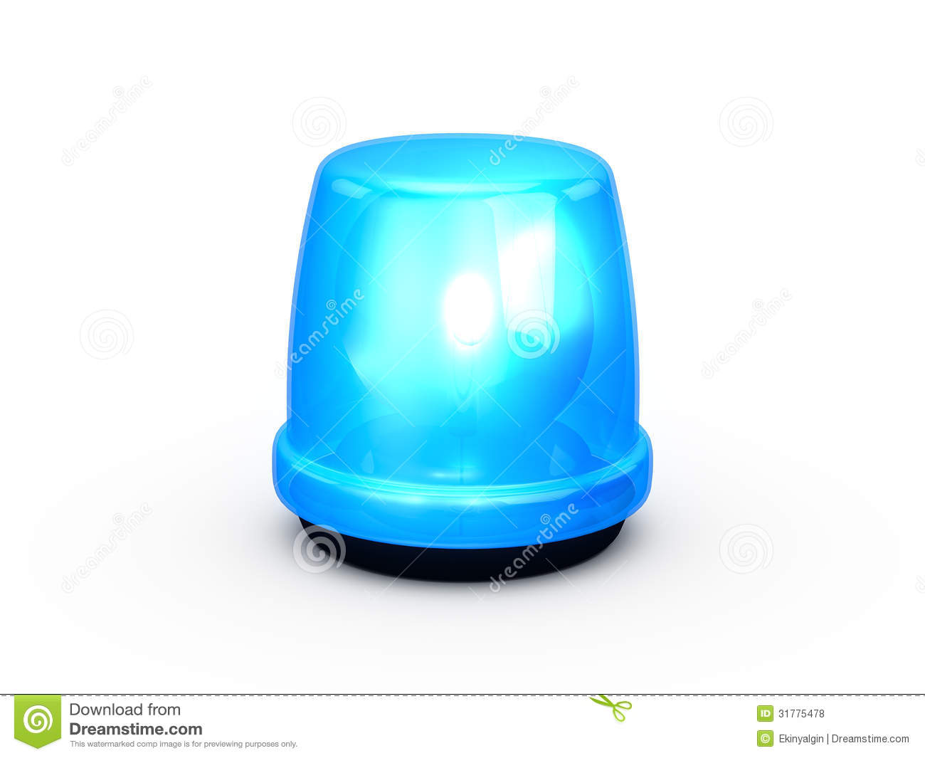 Flashing Light Blue Stock Illustration Illustration Of