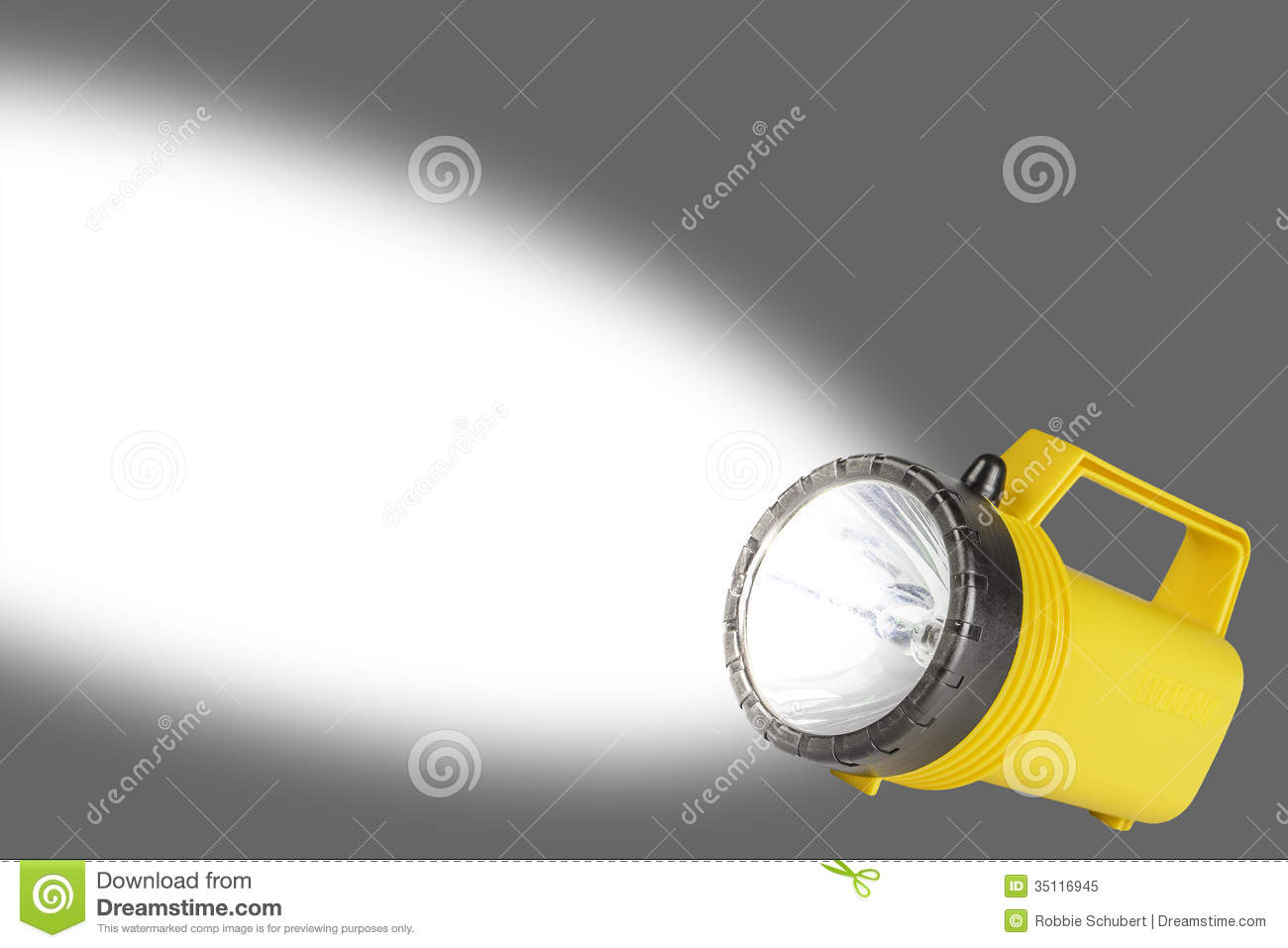 Flashlight With Beam - Room For Text Royalty Free Stock ...