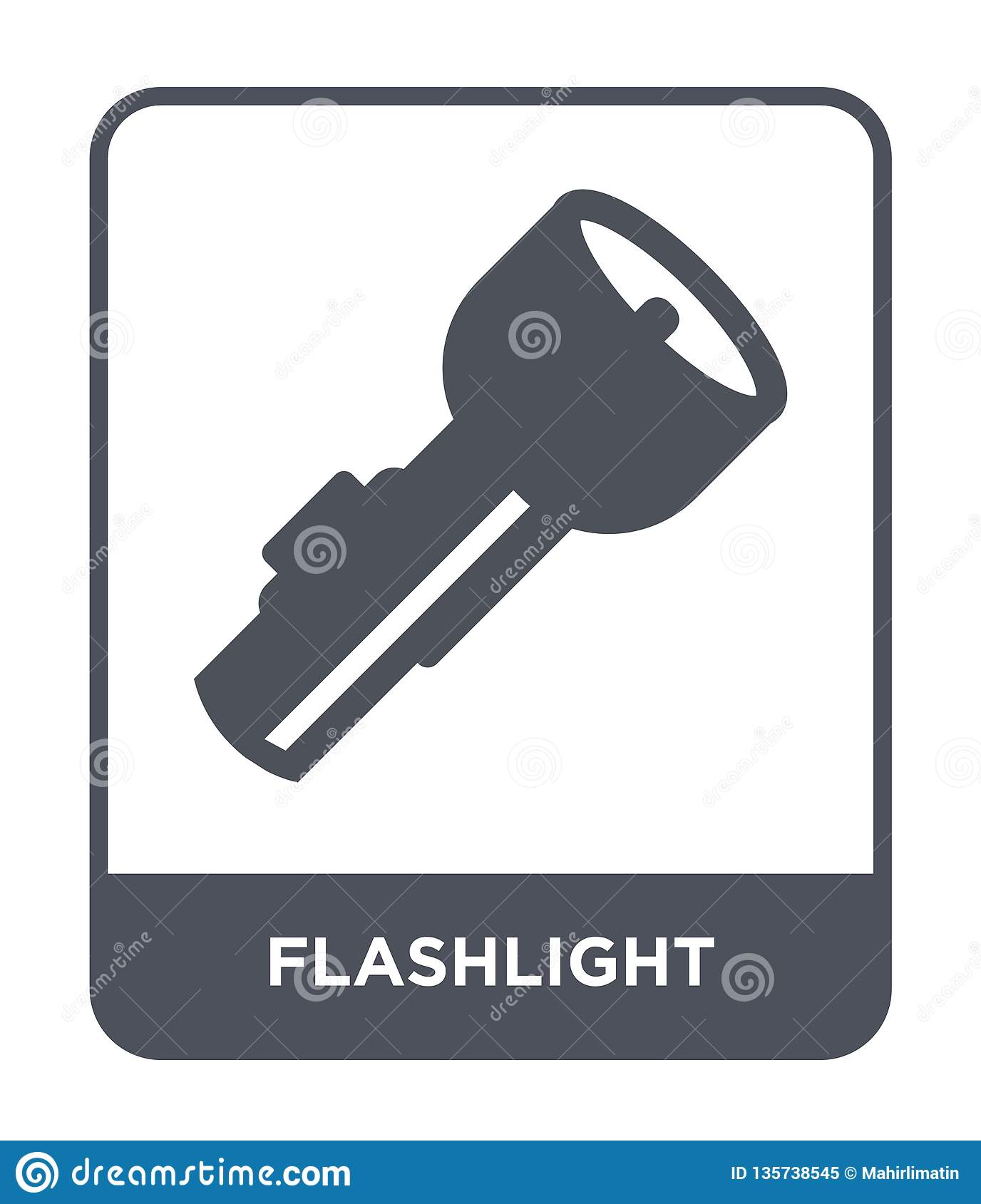 flashlight icon in trendy design style. flashlight icon isolated on white background. flashlight vector icon simple and modern