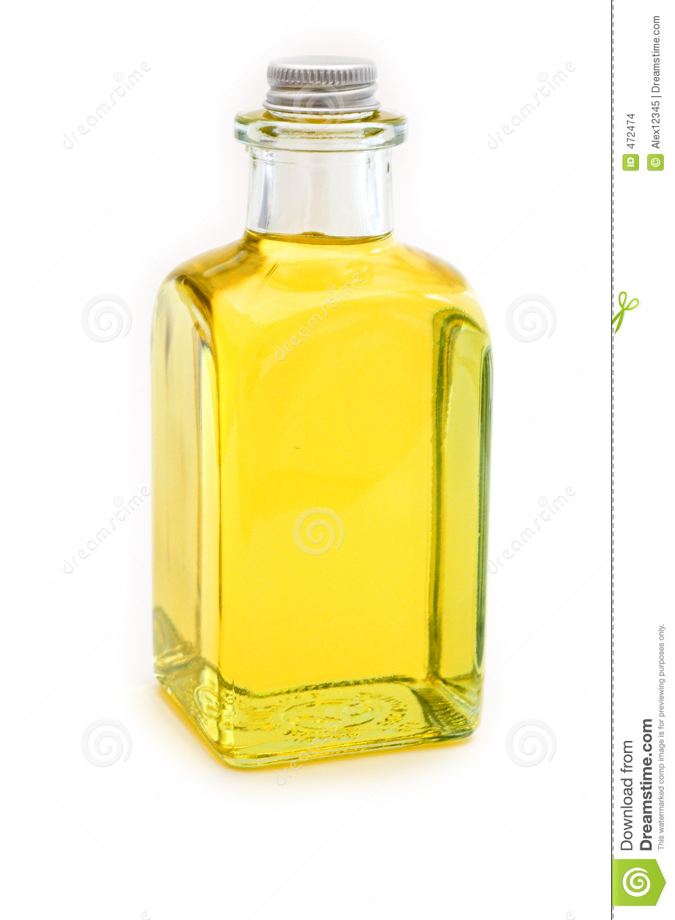 Flask of yellow oil