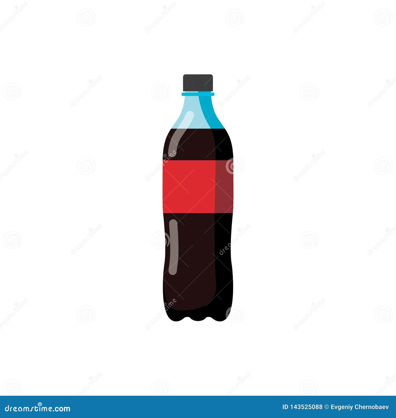 Flaska av sodavattenvektorn eps10 Flaska av cocasodavatten på vit backgorund