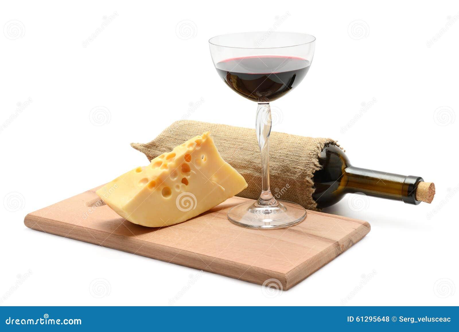 Flaska av vin och ost
