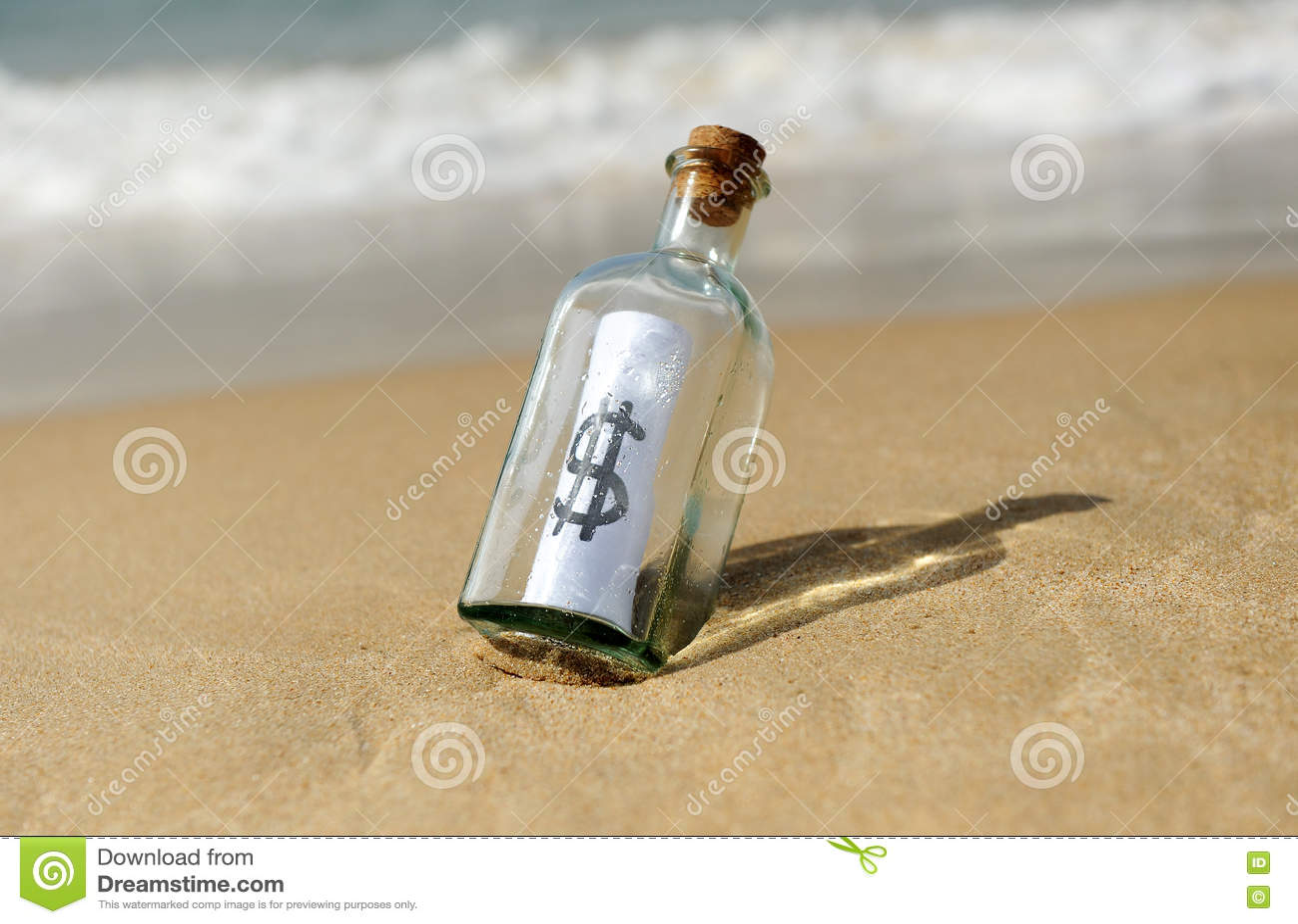 Flaska med dollartecknet