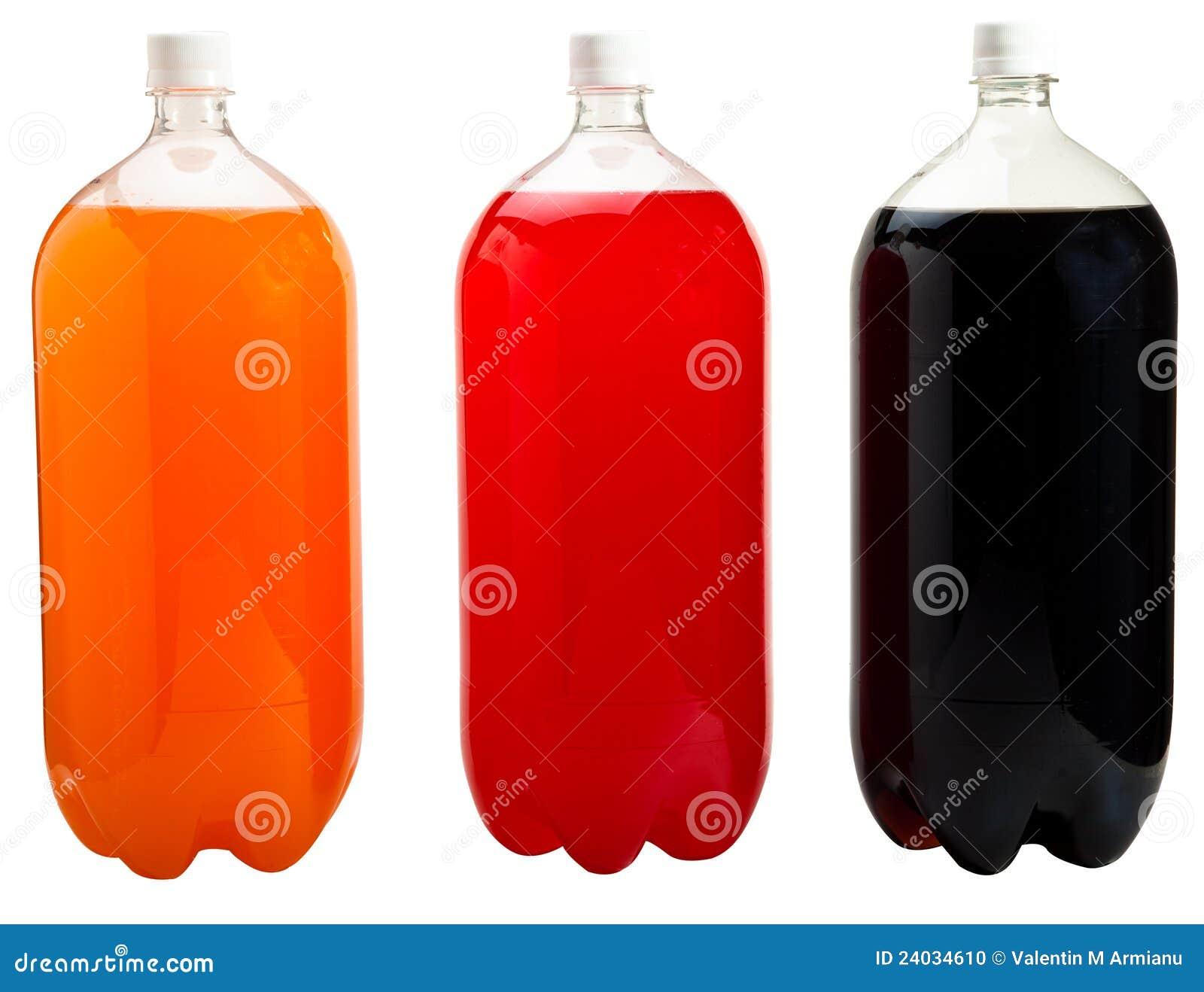 Flaskor isolerade sodavatten