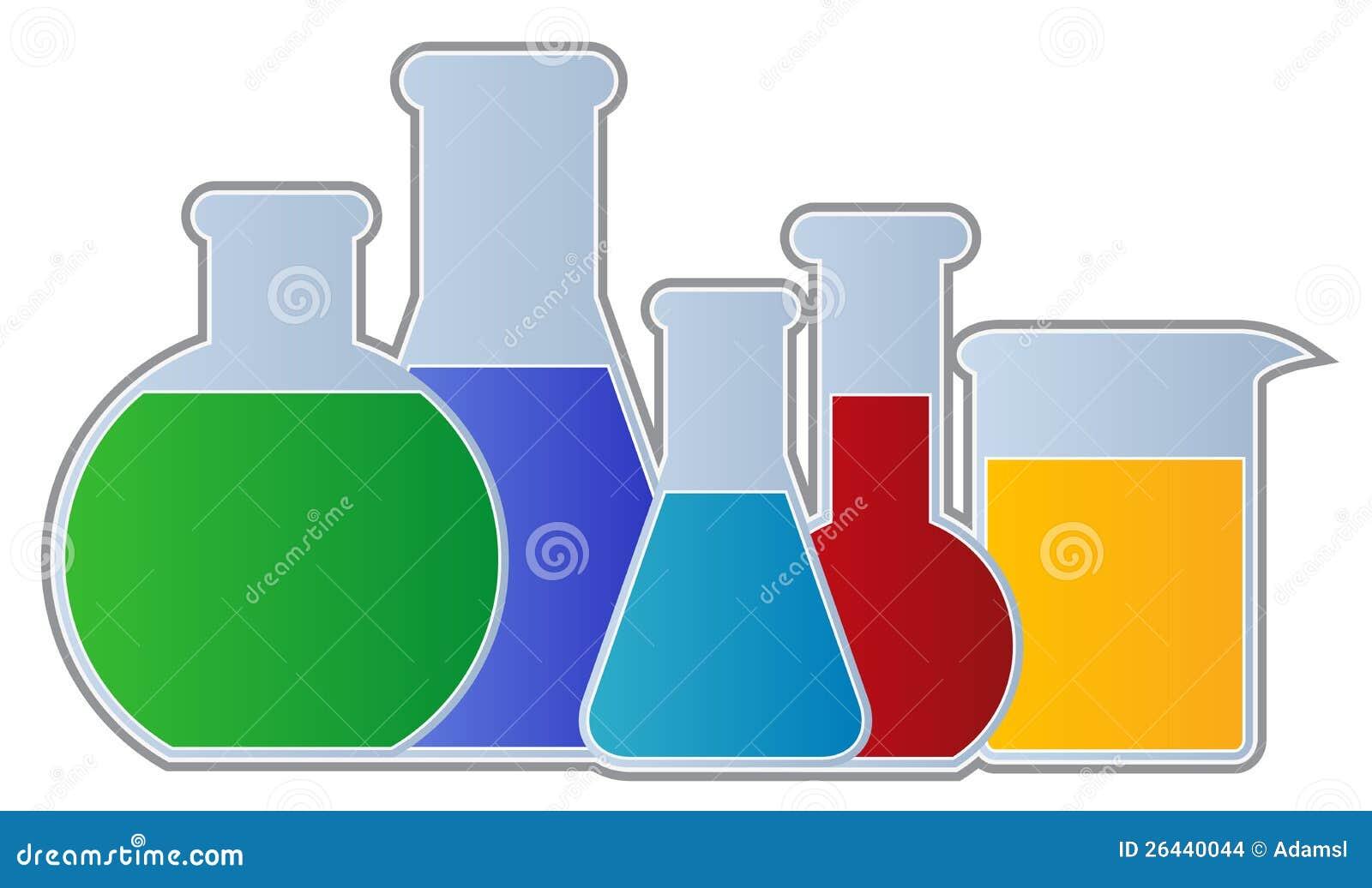 cartoon science beaker