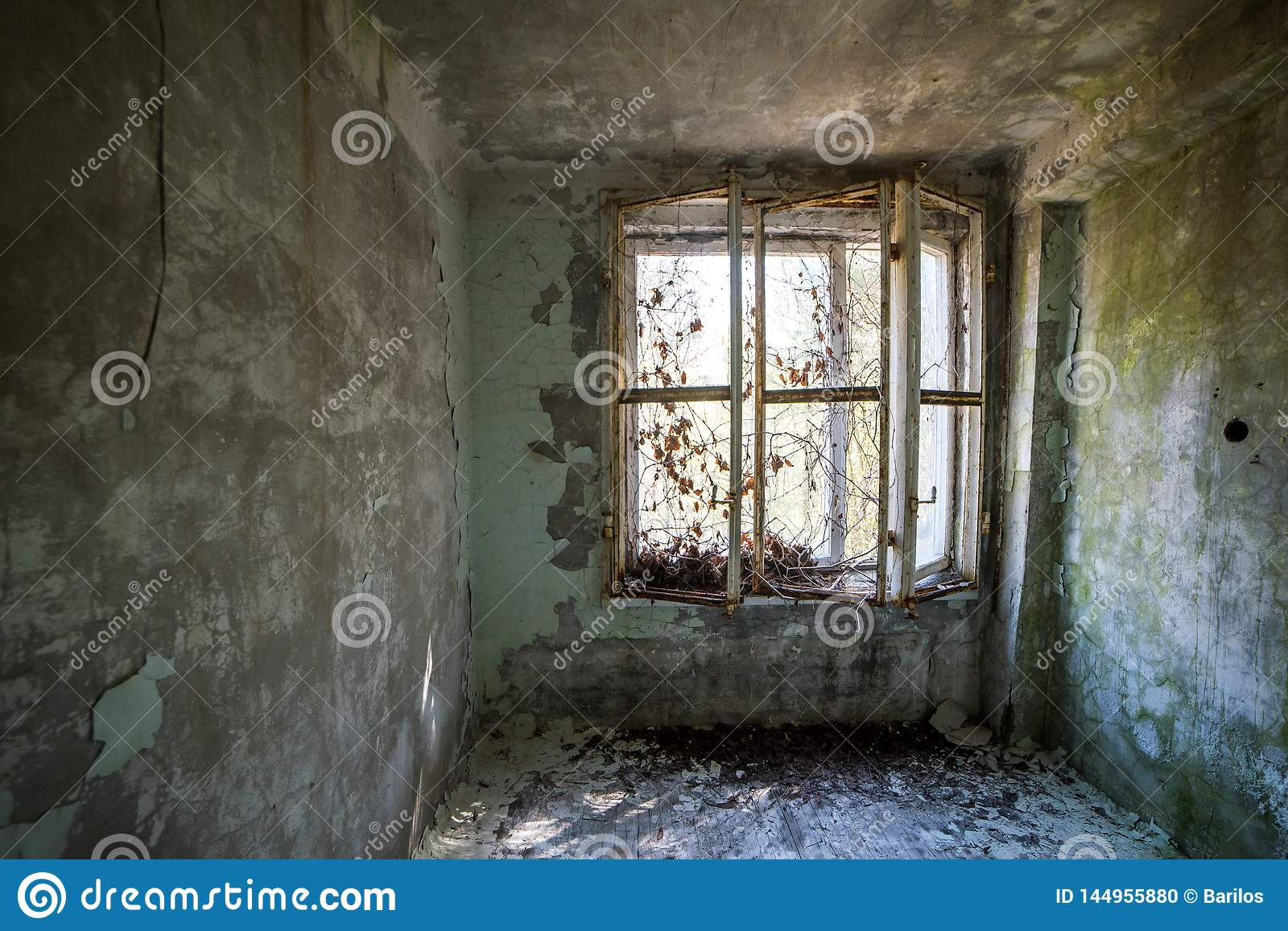 Flat In Apartment Building In Abandoned Pripyat City In