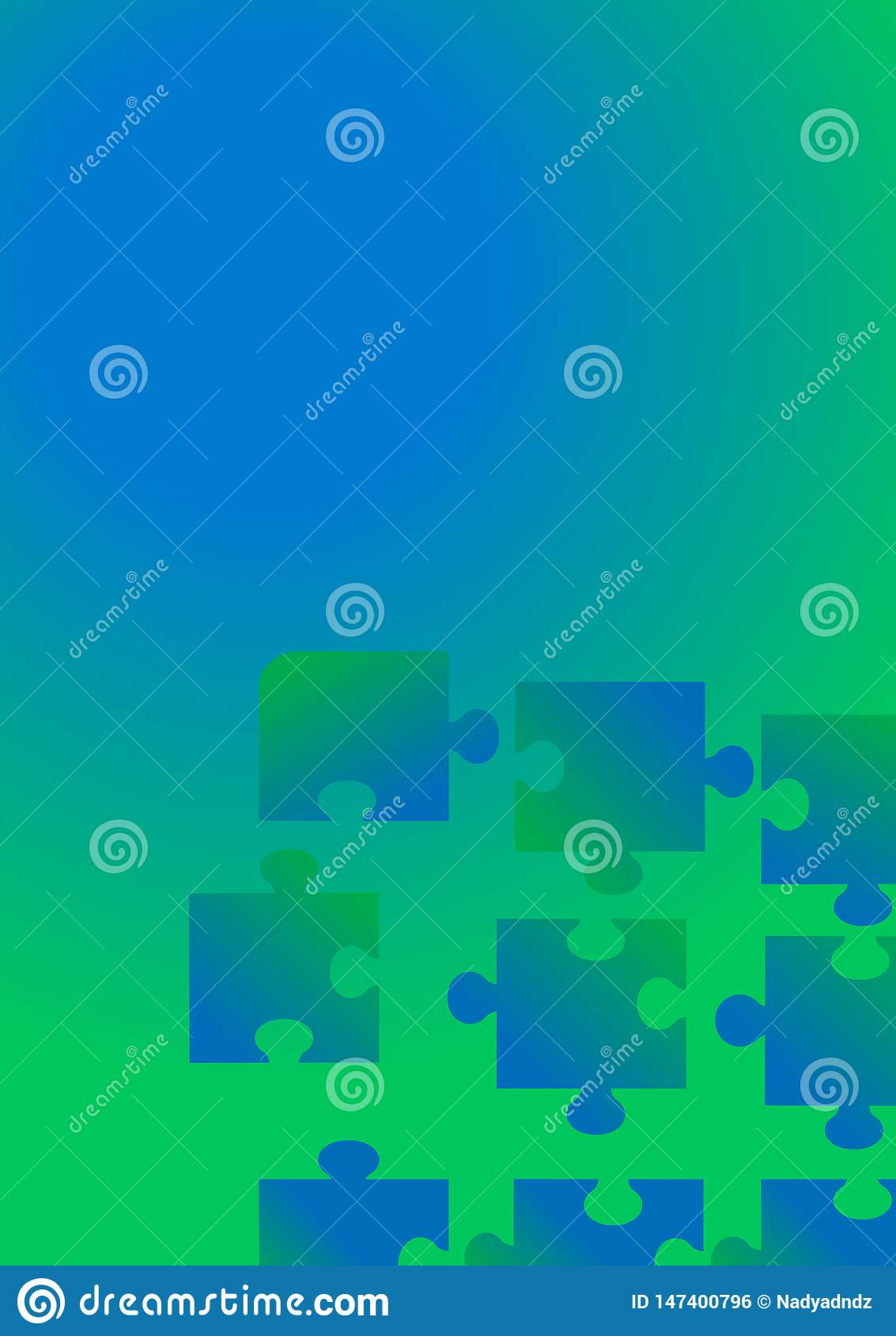 Flat background puzzle for concept design. Technology background.
