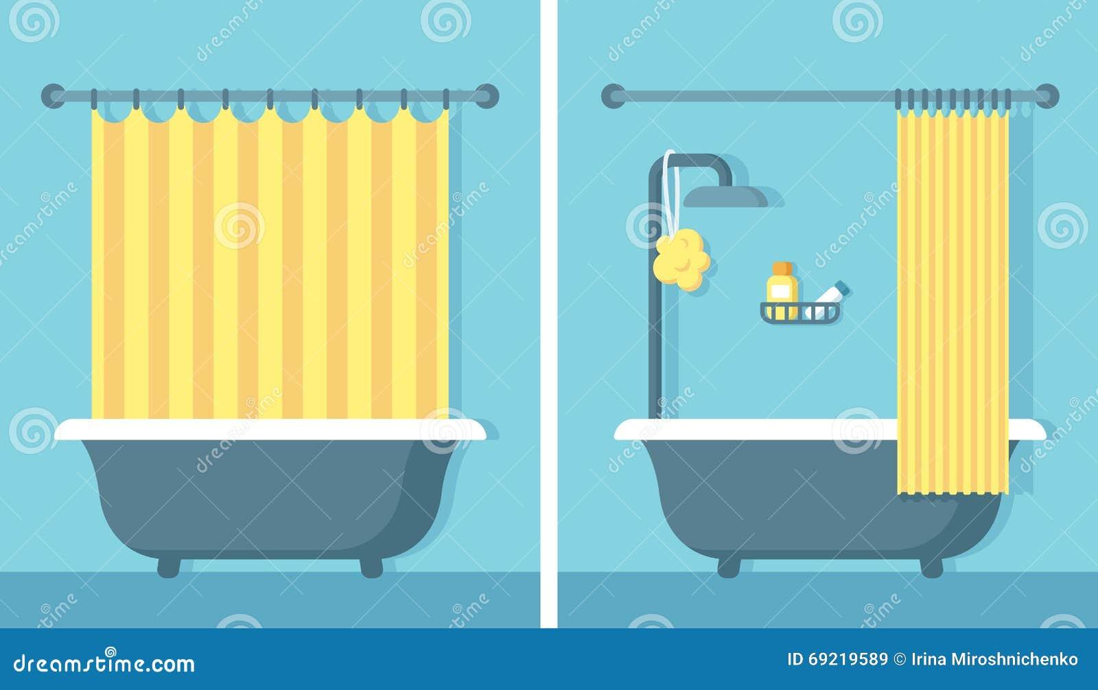 Bathroom Designers Flat Bathroom Interior Stock Vector Image 69219589