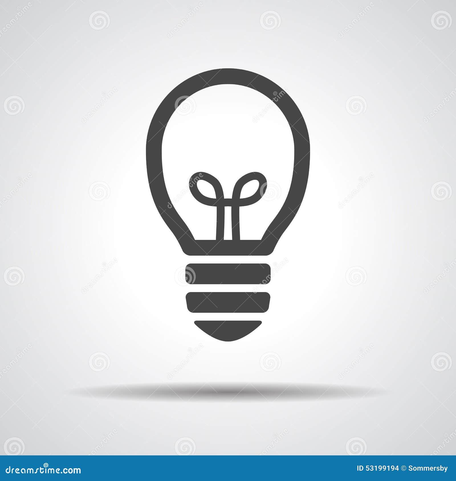 Flat black Light bulb