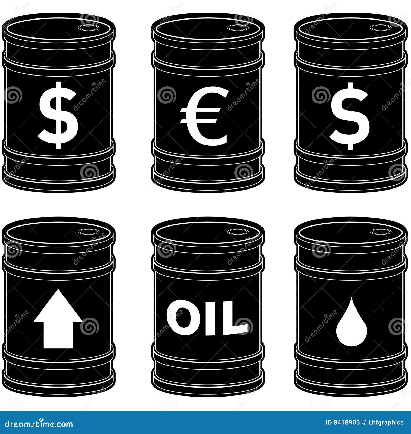 Flat black oil barrels with symbols stock vector illustration of royalty free stock photo buycottarizona