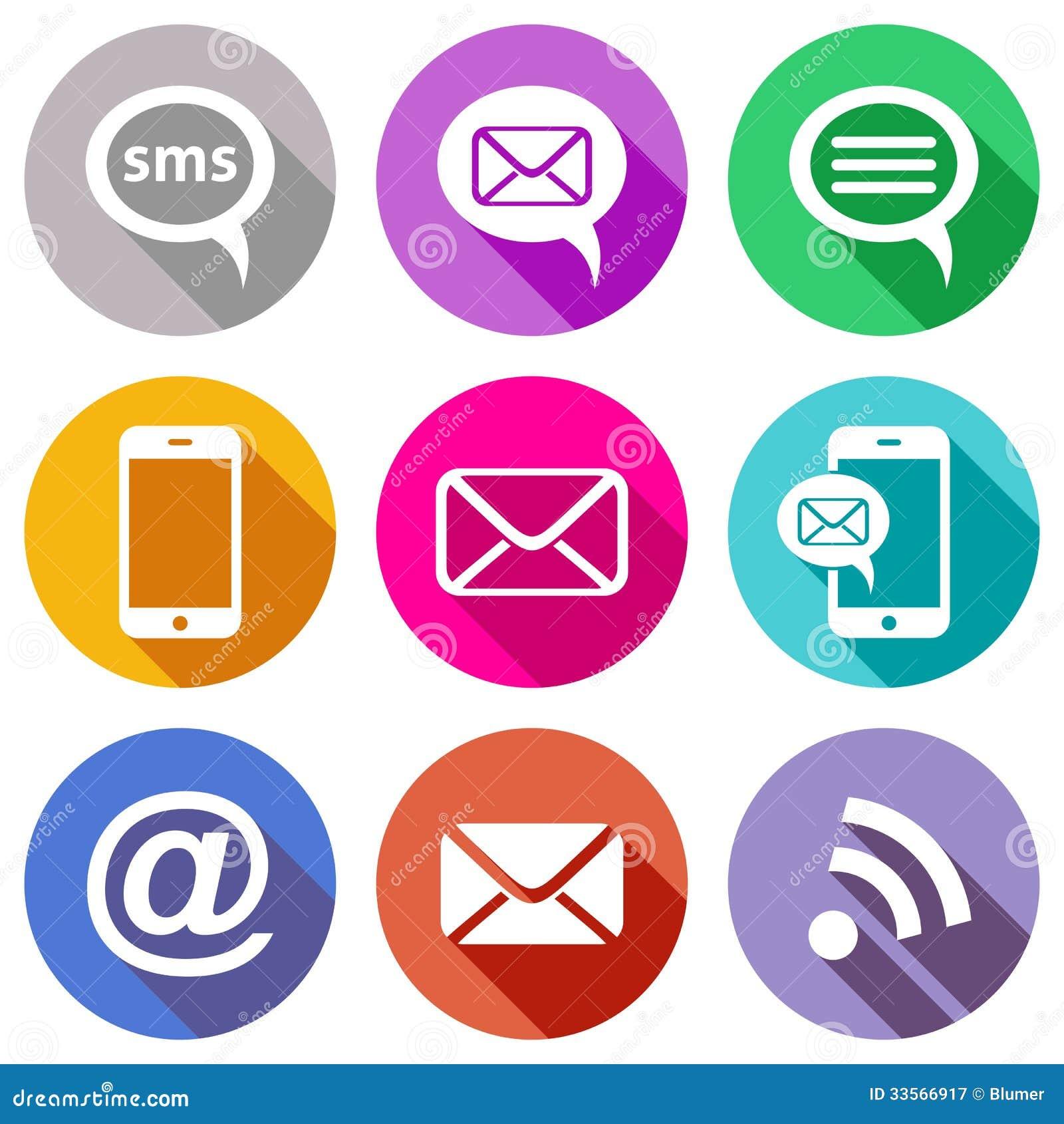 Flat Communication Icons Royalty Free Stock Photography - Image ...