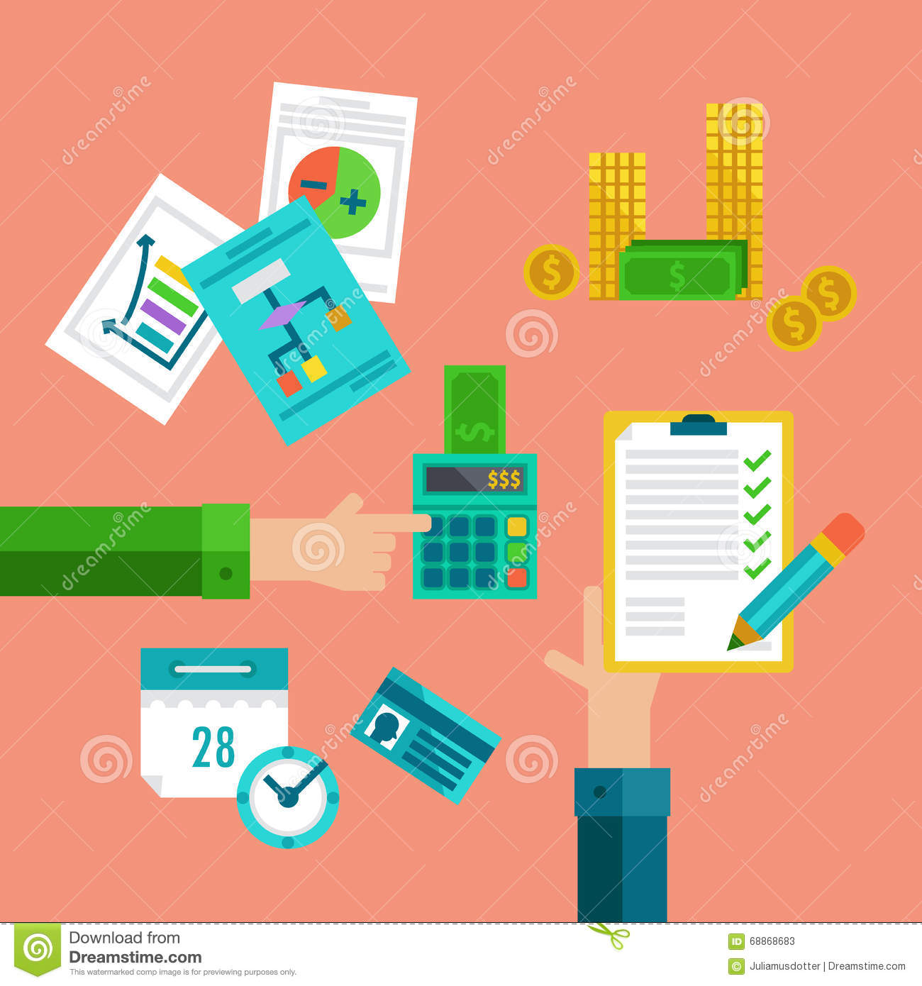 Flat concepts for taxes finance bookkeeping and accounting stock download flat concepts for taxes finance bookkeeping and accounting stock vector illustration ccuart Choice Image