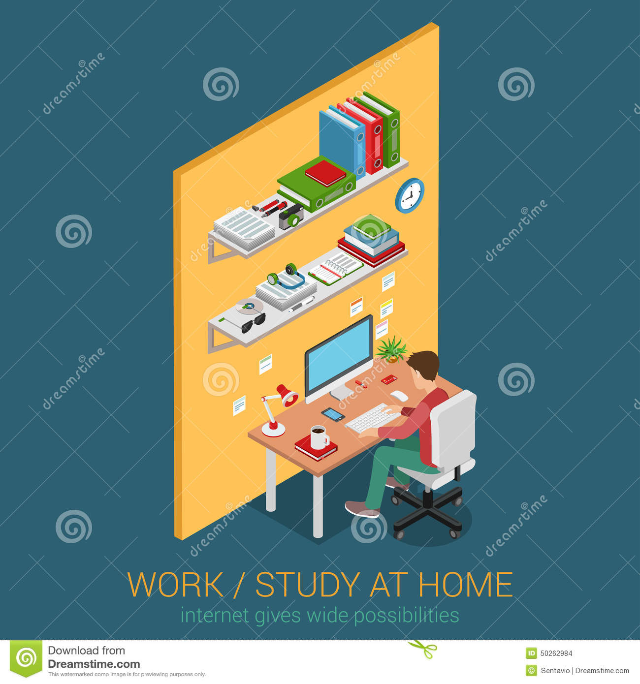 Flat 3d web isometric infographic concept stock vector - How to learn web designing at home free ...