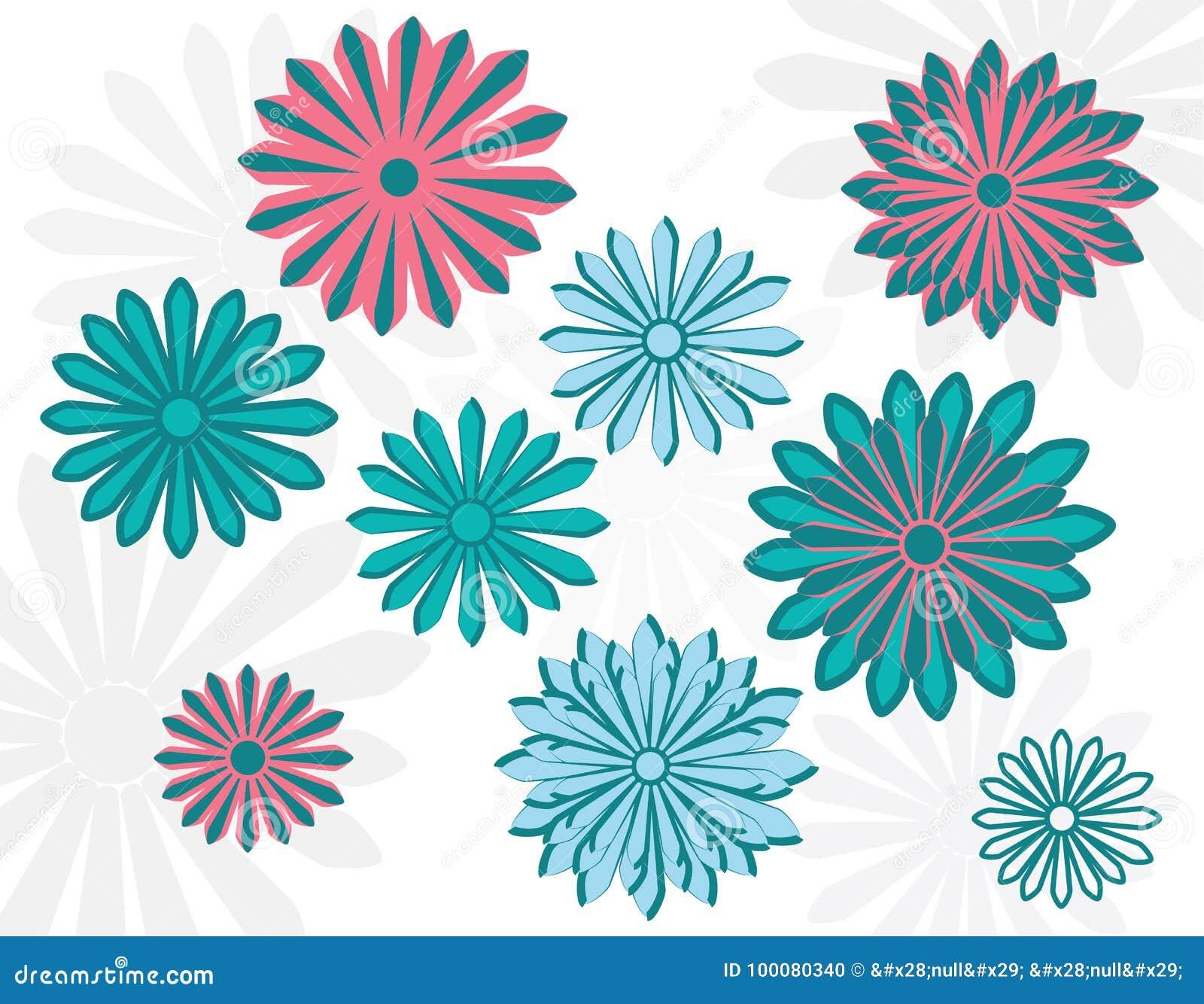 flat art daisy design template vector illustration stock vector