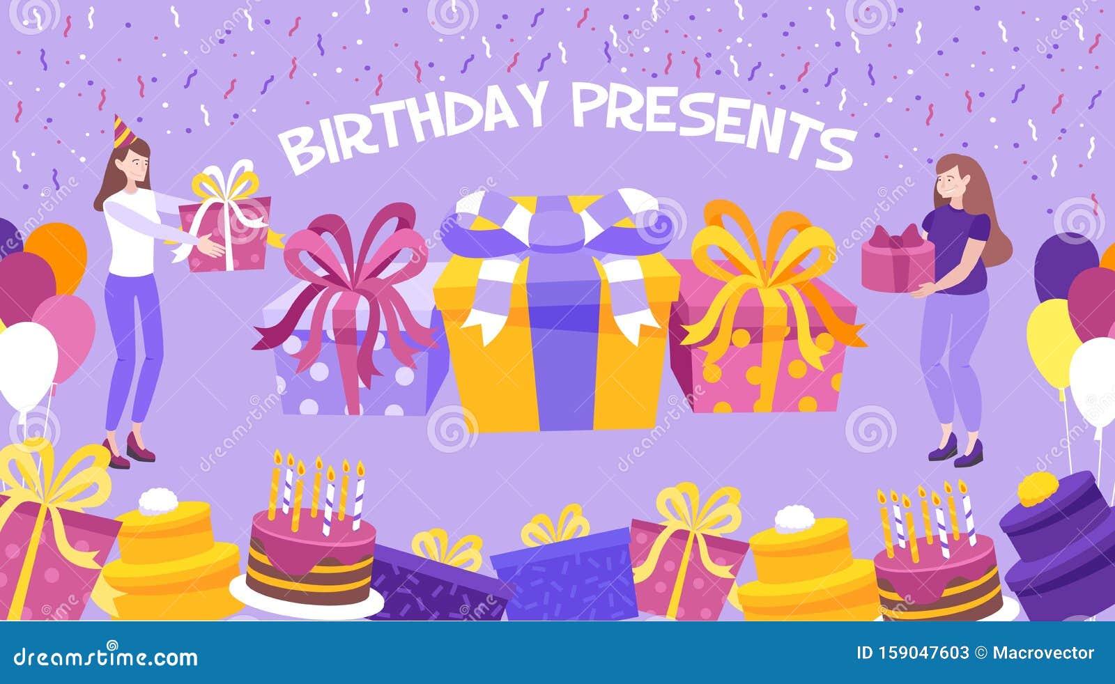 Fine Birthday Present Background Stock Vector Illustration Of Cake Funny Birthday Cards Online Drosicarndamsfinfo