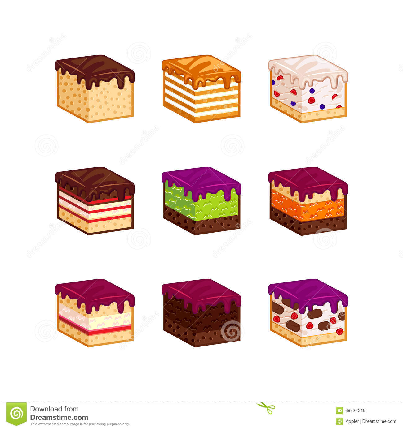 Birthday Cake Slice Illustration