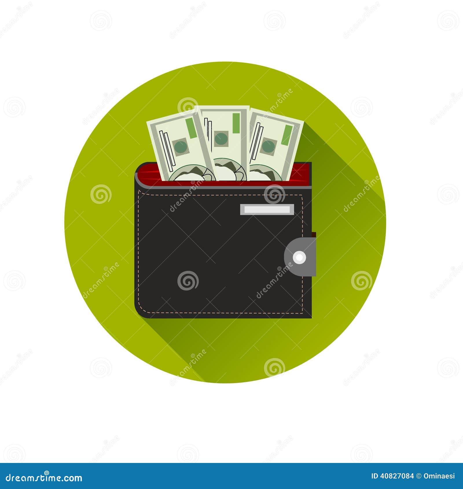 Flat design cash symbol purse with american money stock vector royalty free stock photo biocorpaavc