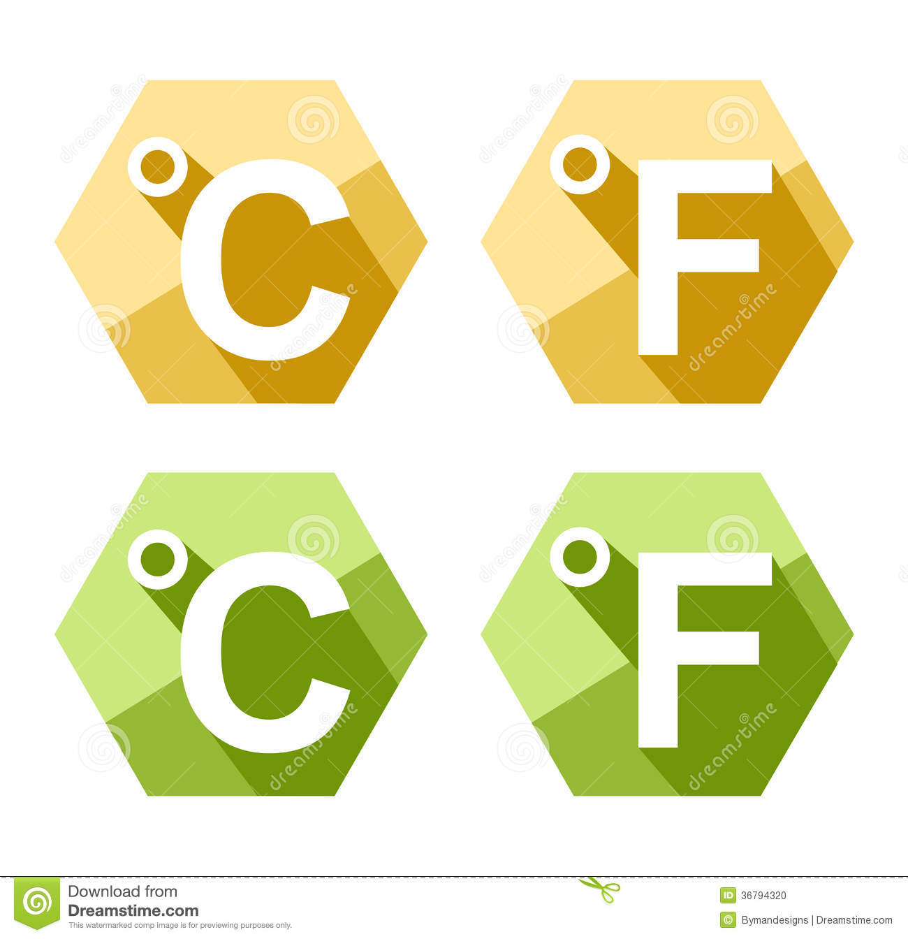 Celsius and fahrenheit symbol icon set stock vector illustration flat design celsius and fahrenheit symbol icon set stock photo biocorpaavc Choice Image