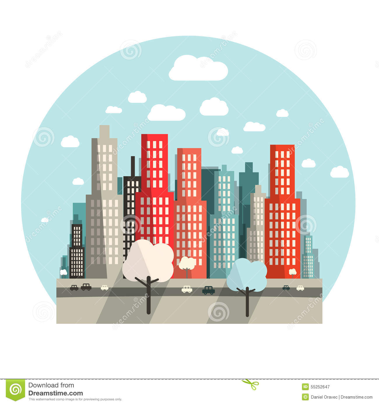 Flat design city vector stock vector illustration of flat for Flat design pictures