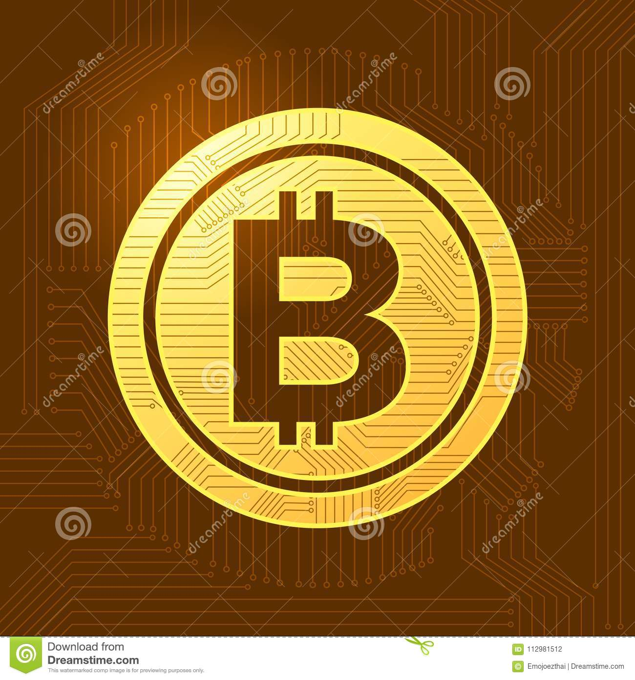 Flat design concept bitcoin crypto currency. Vector illustrate.