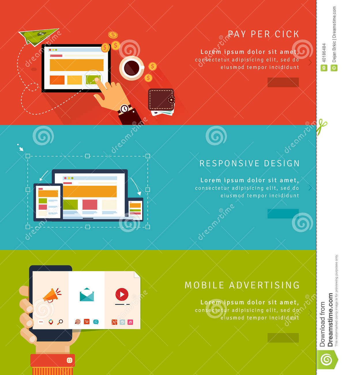 Flat design concept icons and banners stock vector image Building designing app