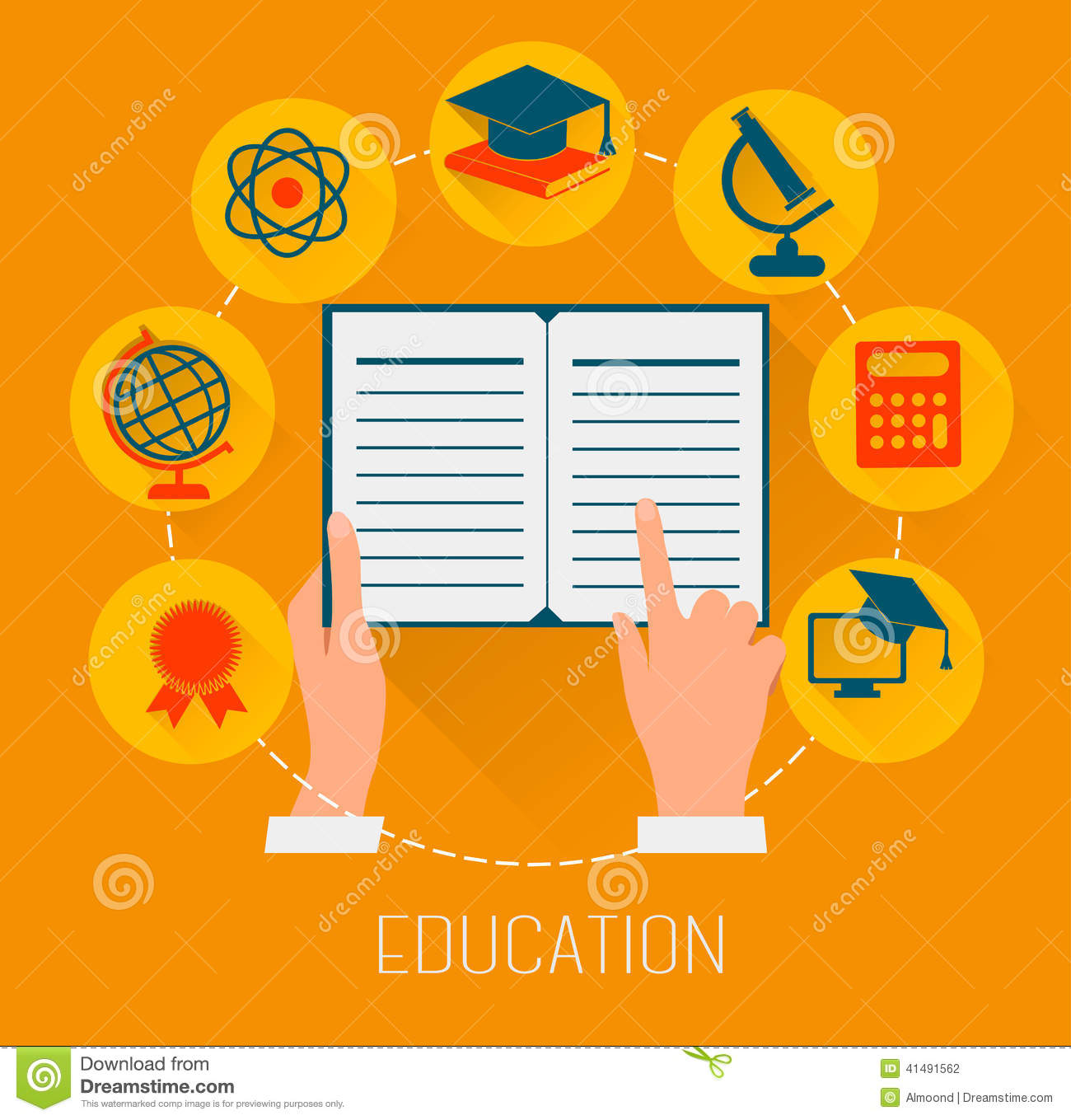E learning poster designs - Flat Design Concept Icons For Education E Learning Concept Stock Photography