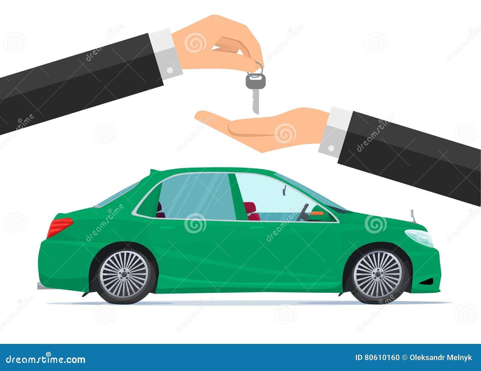 Stock Illustration Flat Design Concept Rent Car Business Cartoon Conce...